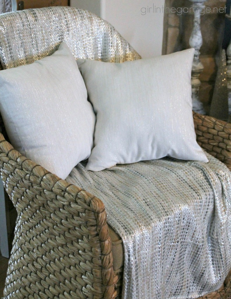 DIY Napkin Pillows - Girl in the Garage