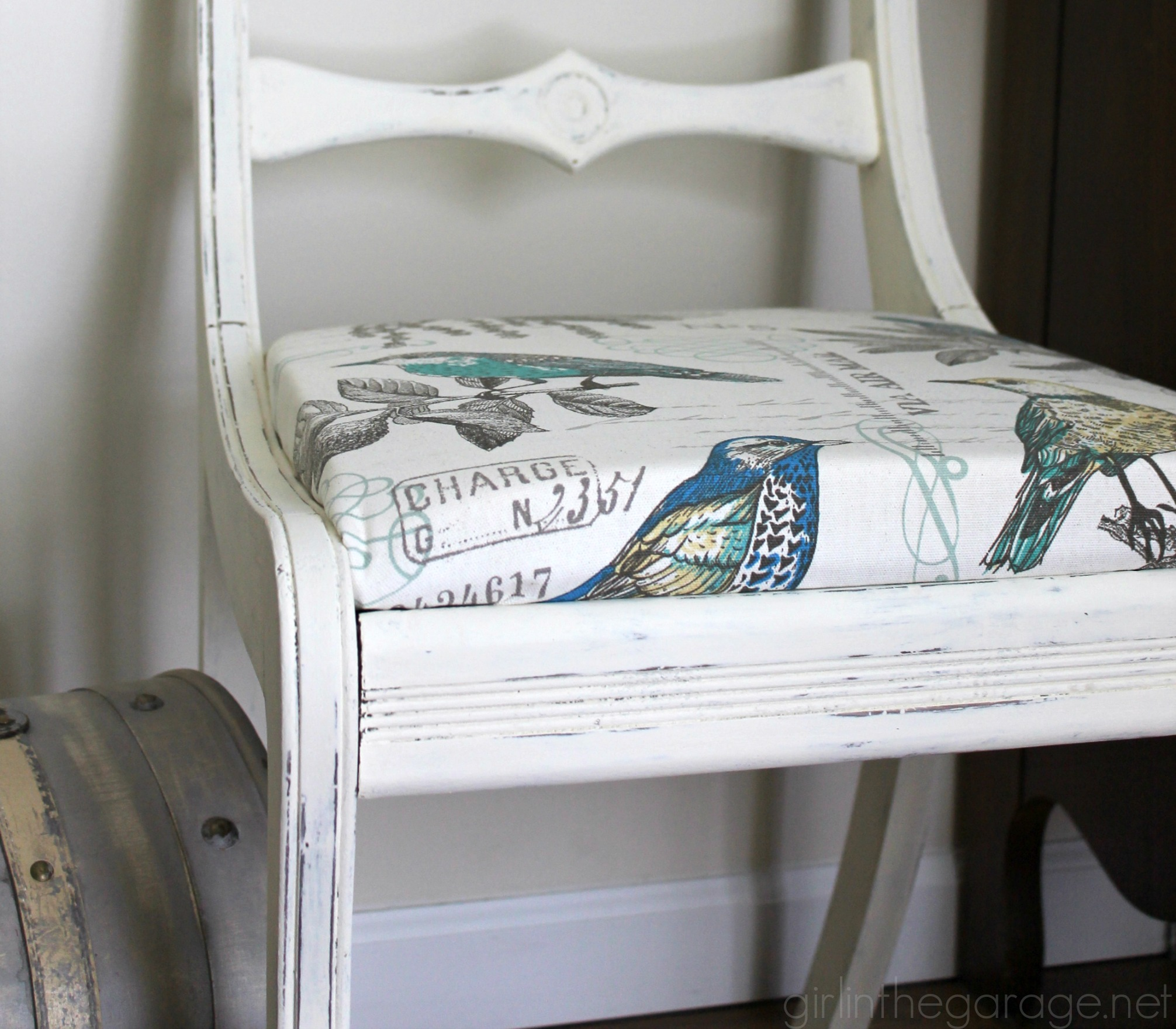 ... Chair Makeover Tutorial By Girl In The Garage   Themed Furniture  Makeover