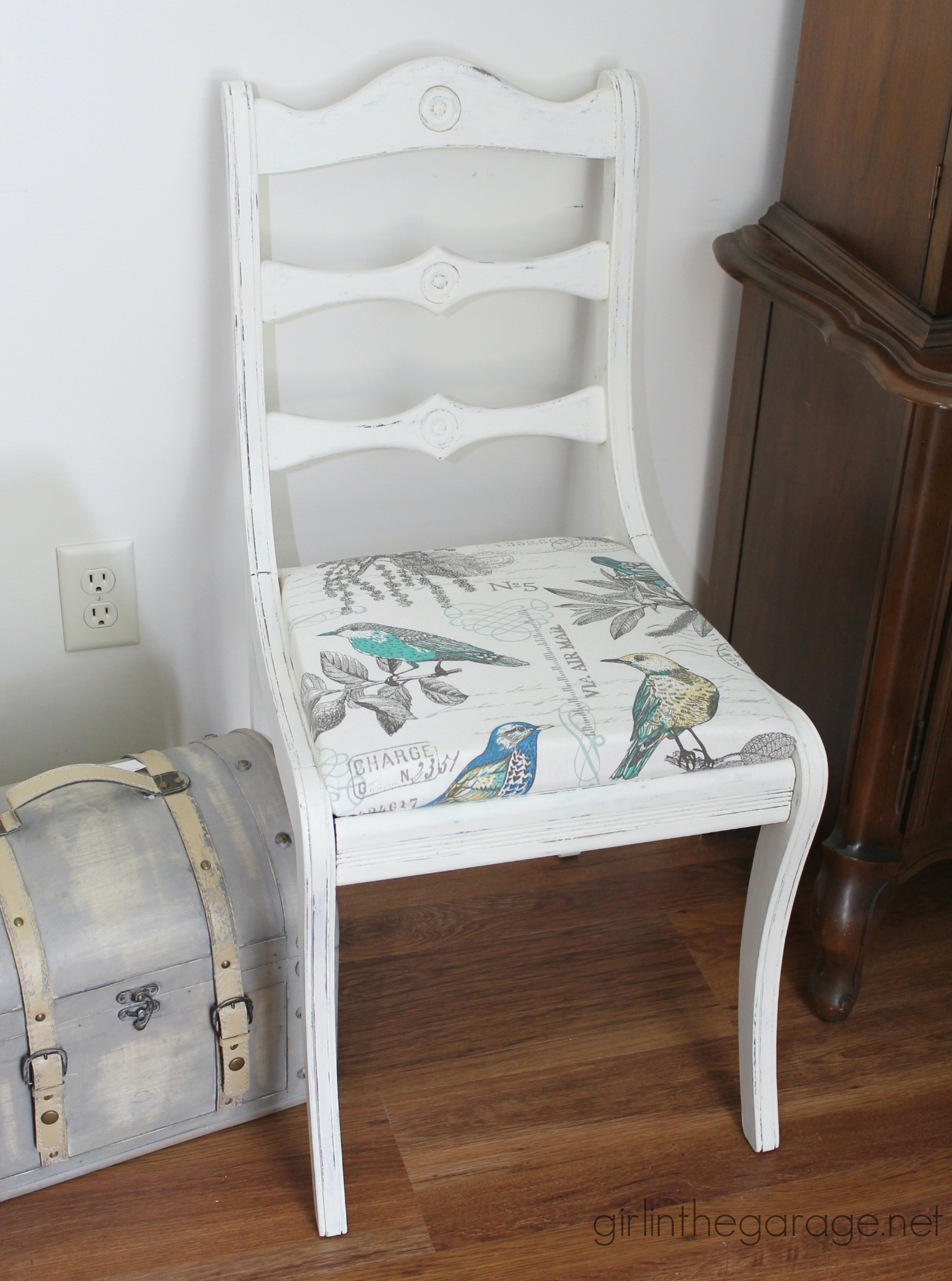 Vintage Chair Makeover with Chalk Paint - Girl in the Garage