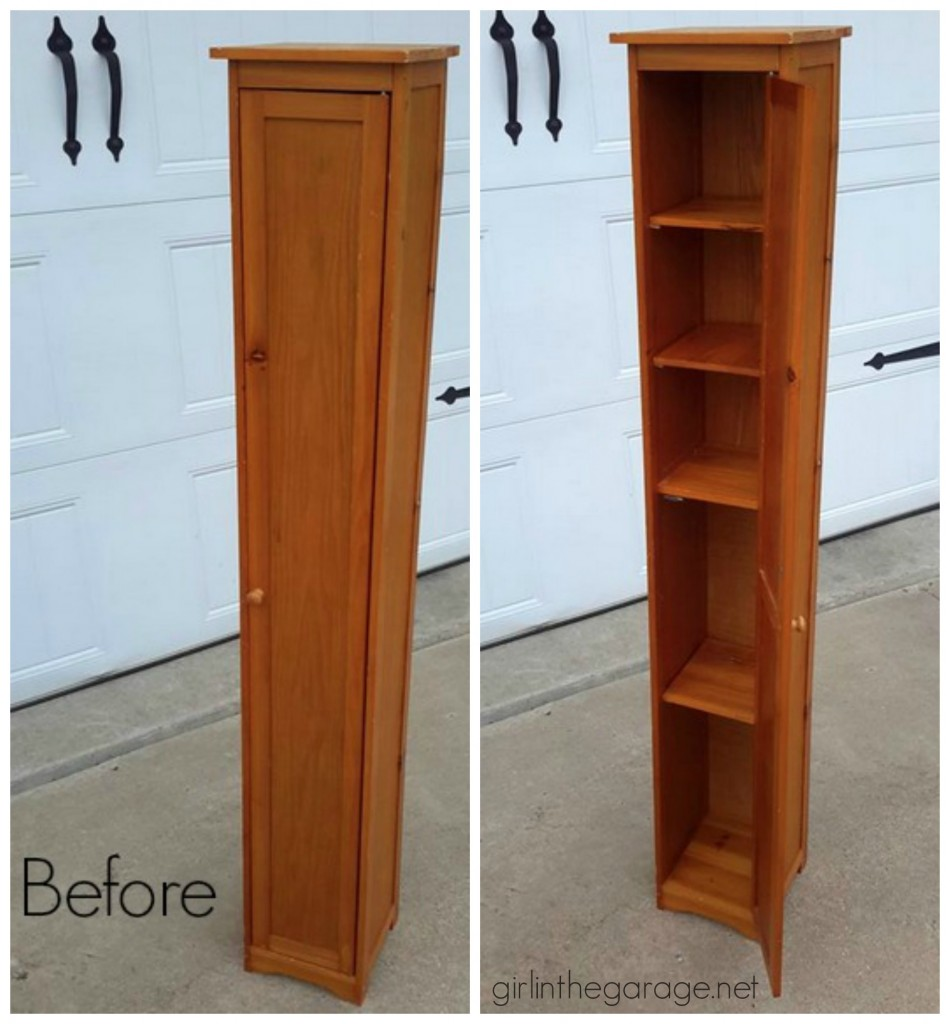 Upcycled Storage Cabinet Makeover - Before
