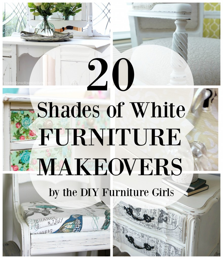 20 Shades of White Furniture Makeovers - The DIY Furniture Girls