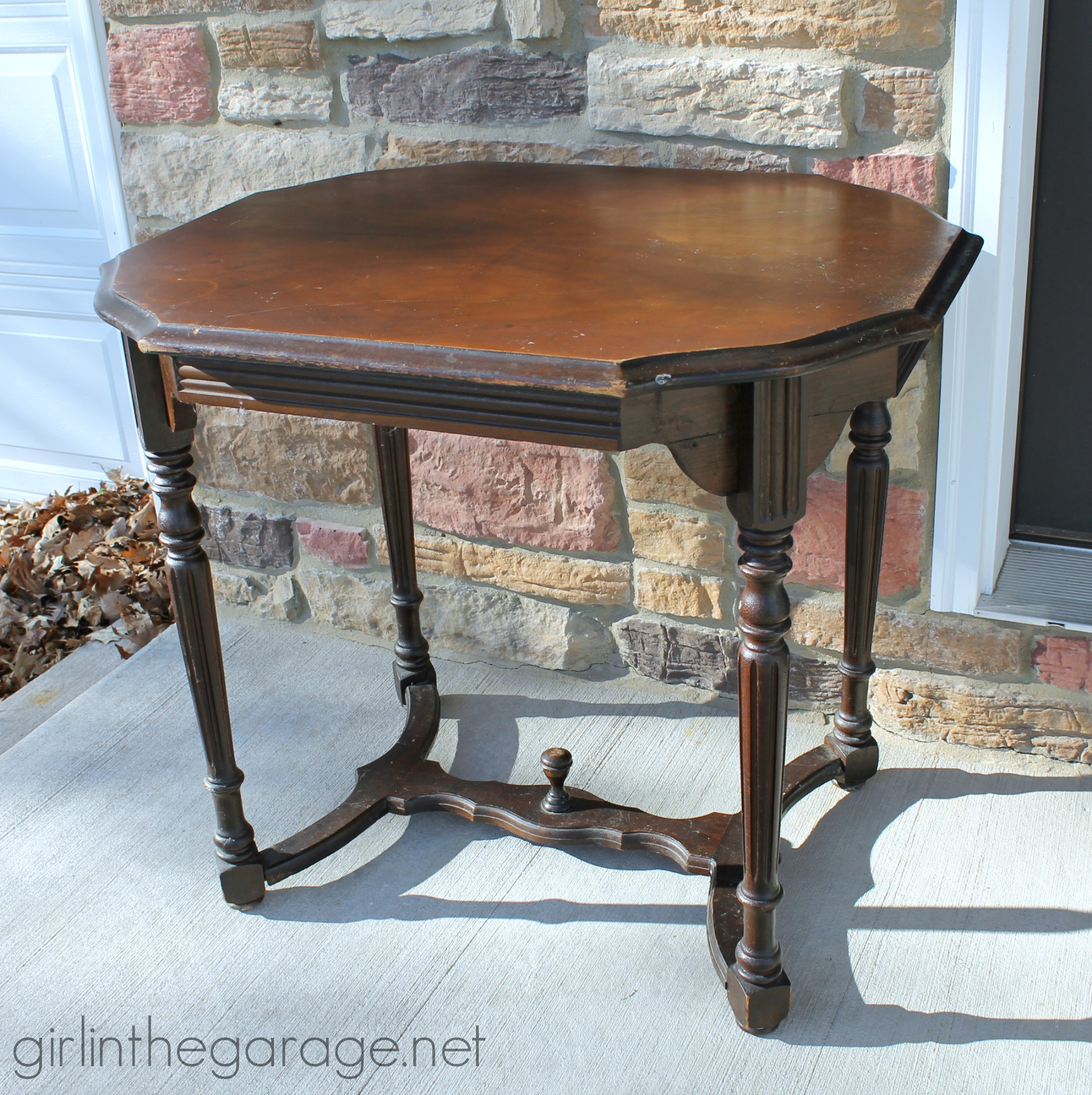 Antique table - Girl in the Garage