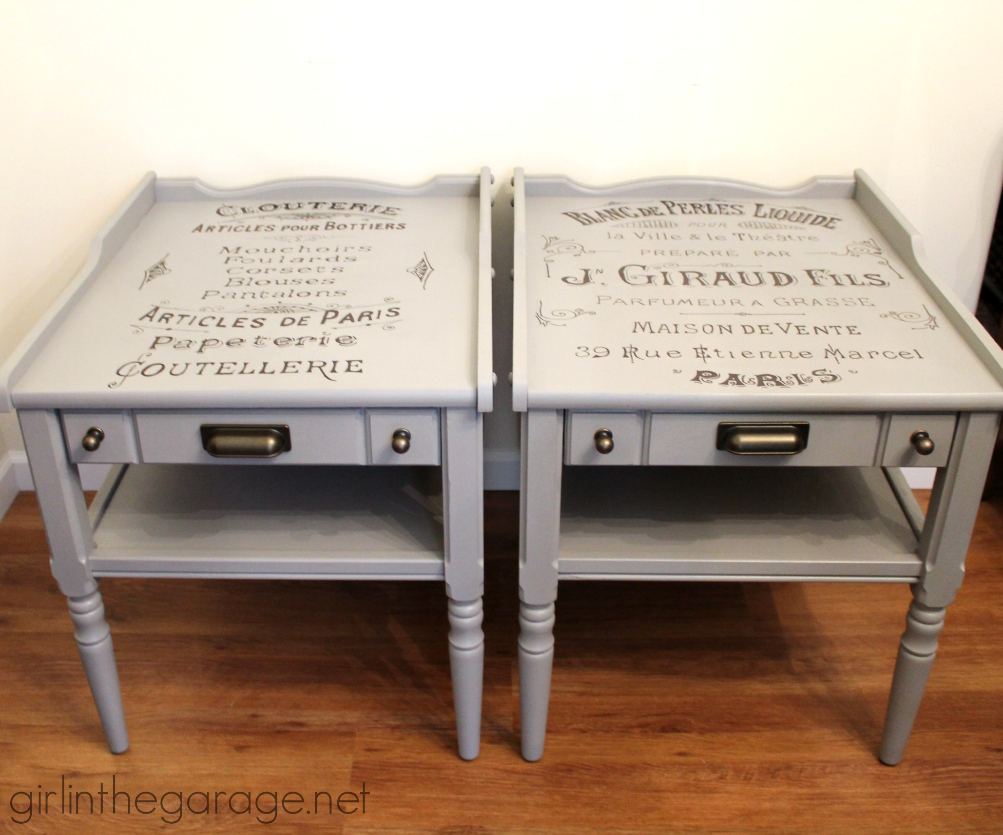 Vintage French Advertisement Tables - girlinthegarage.net