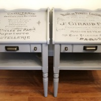 French Advertisement Tables – Trash to Treasure