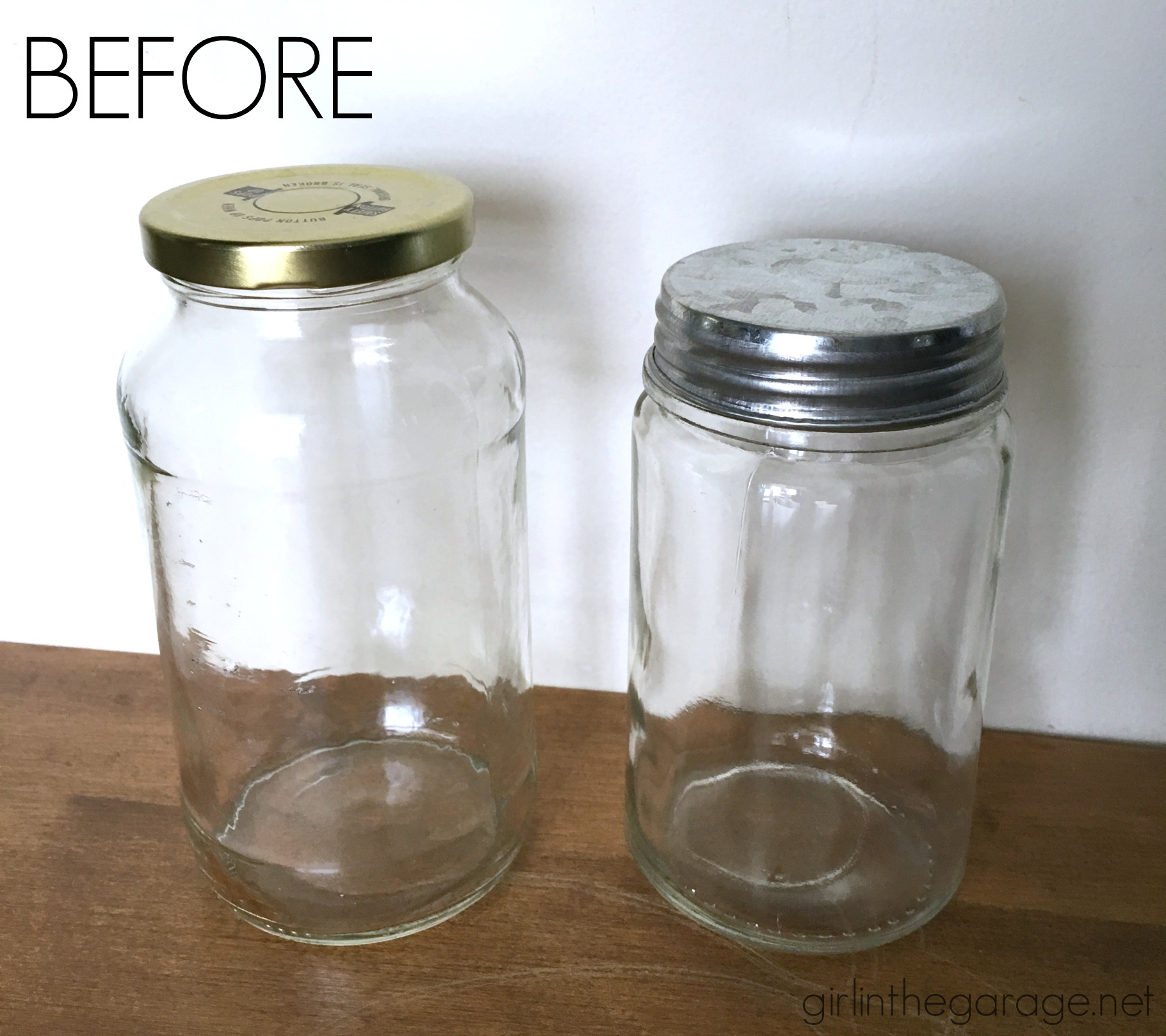 Upcycled DIY apothecary jars - Girl in the Garage