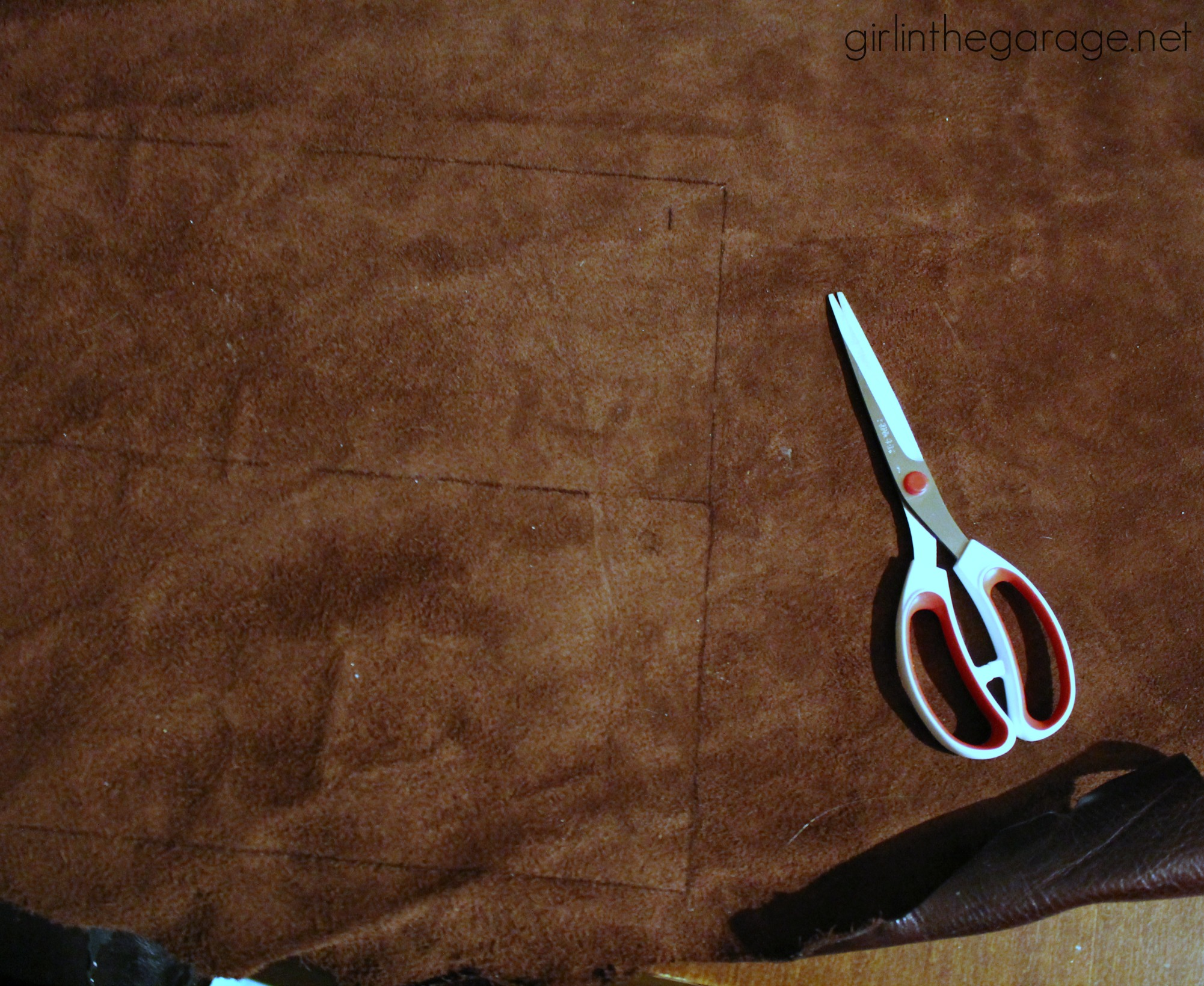 Midcentury Table Makeover with Leather - Girl in the Garage