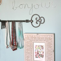 DIY Jewelry Wall Display