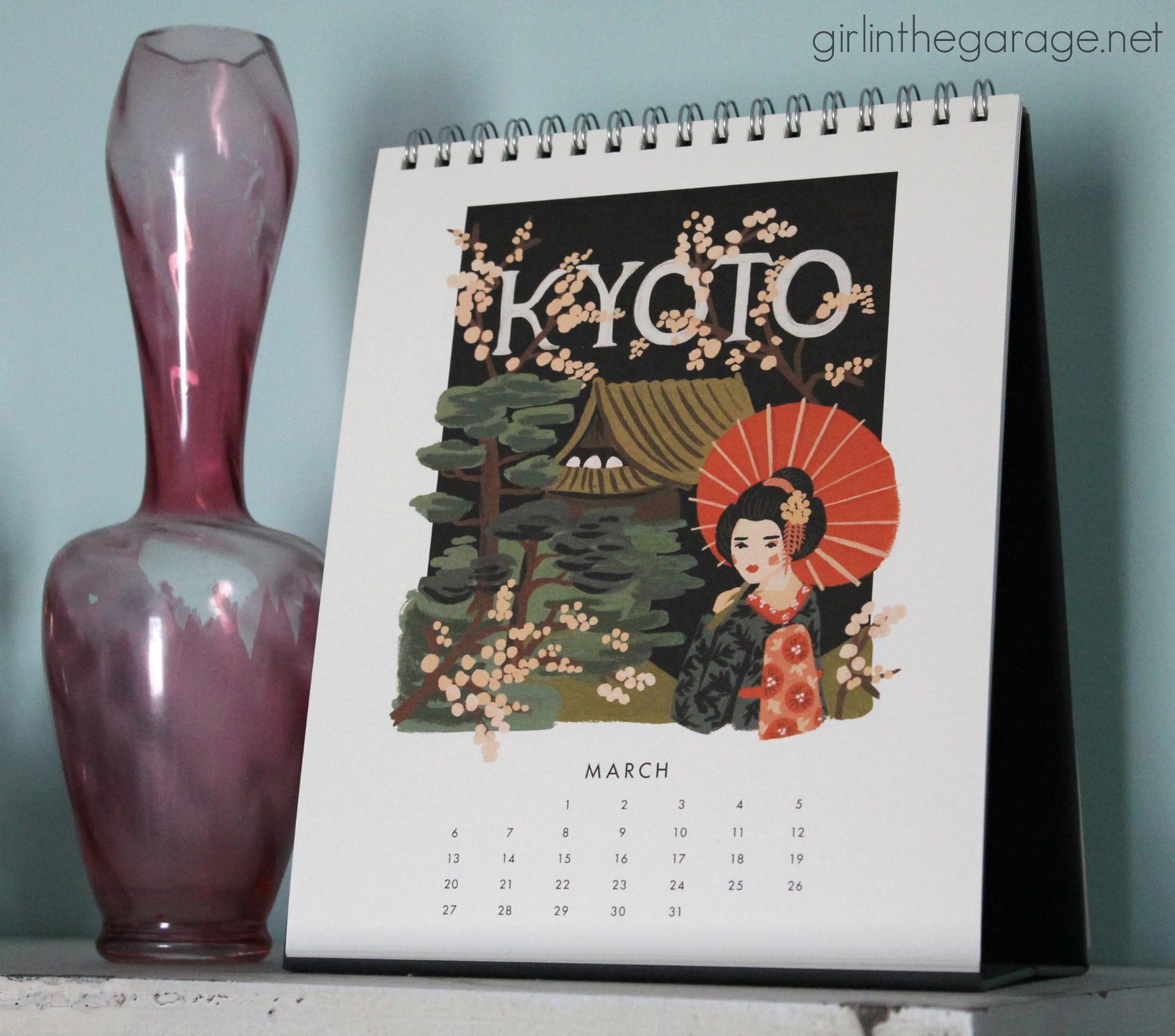 Rifle Paper Co. Calendar - Girl in the Garage