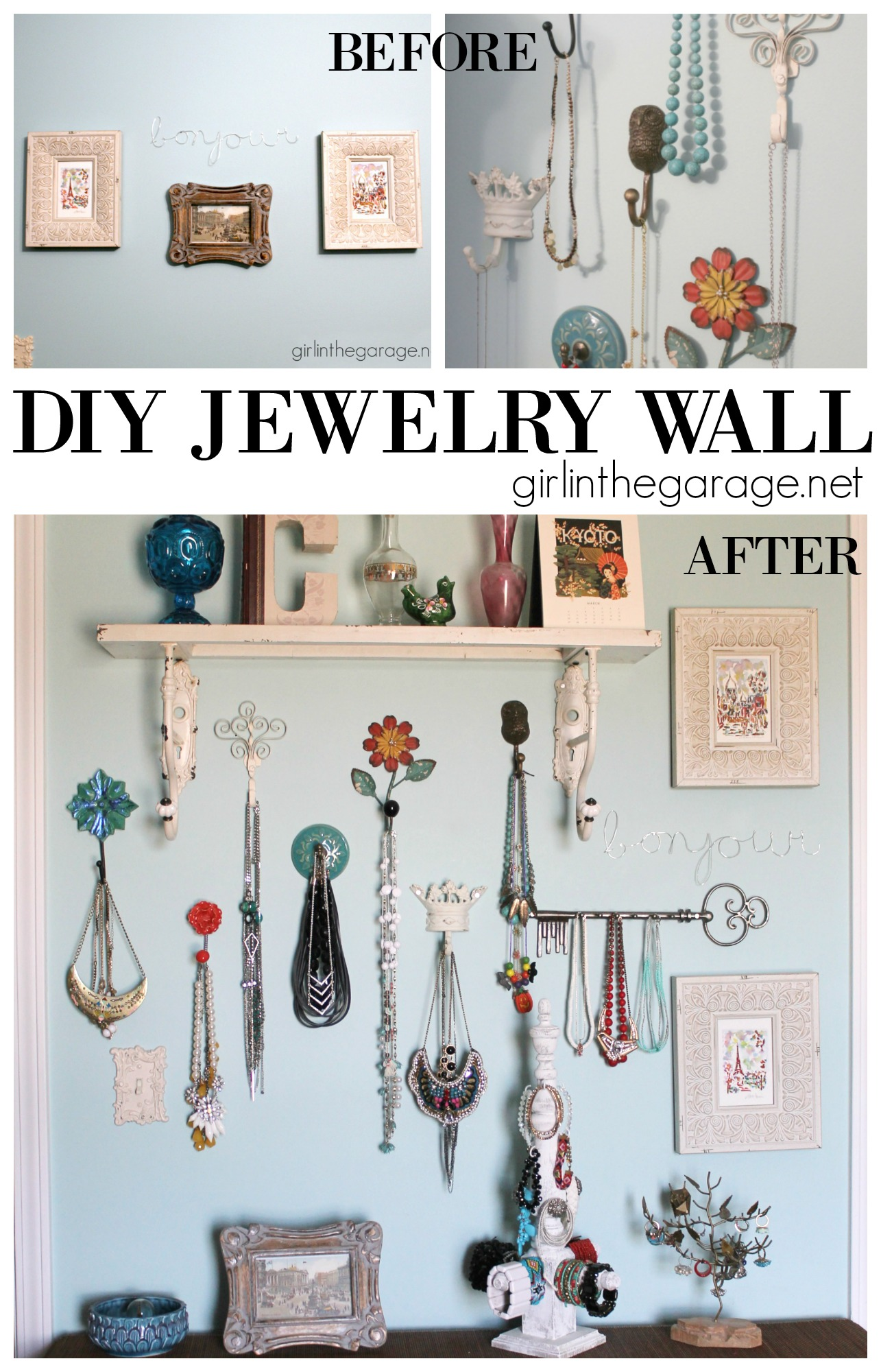 Diy Jewelry Wall Display Girl In The Garage 174