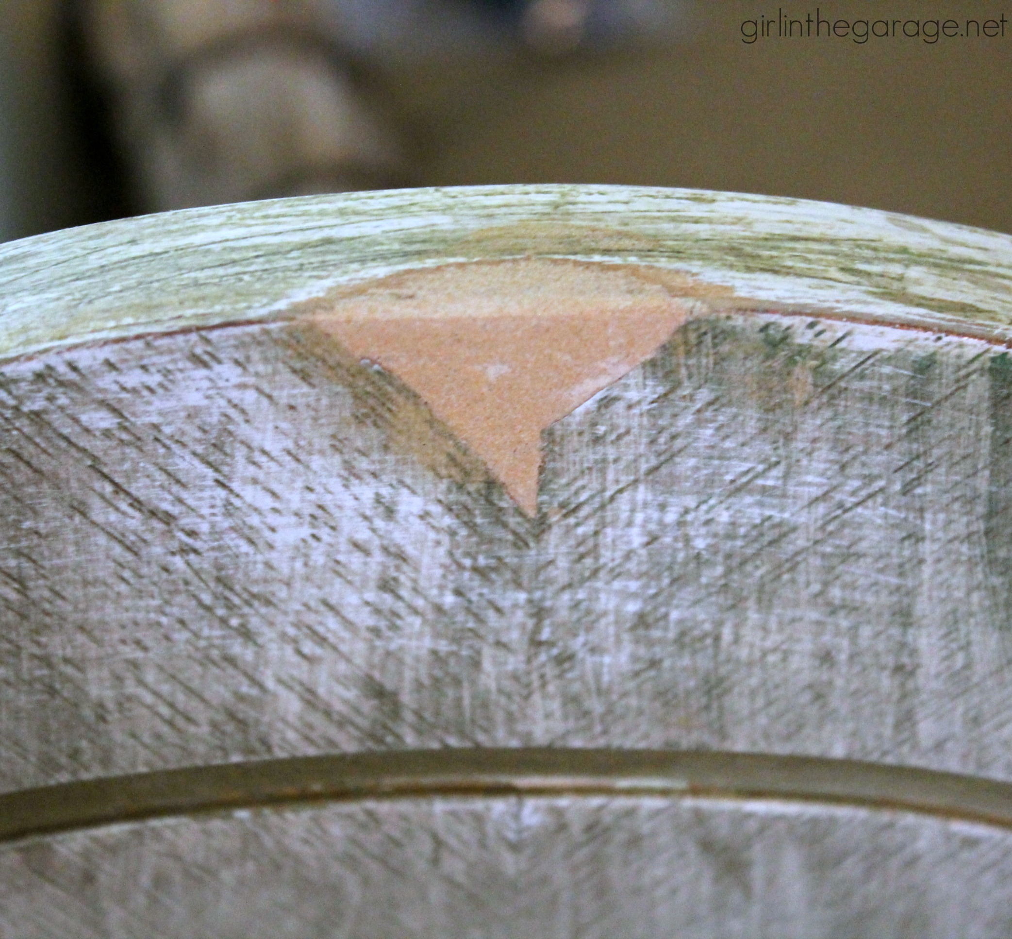 (Before) Farmhouse Style Chair Makeover - Girl in the Garage
