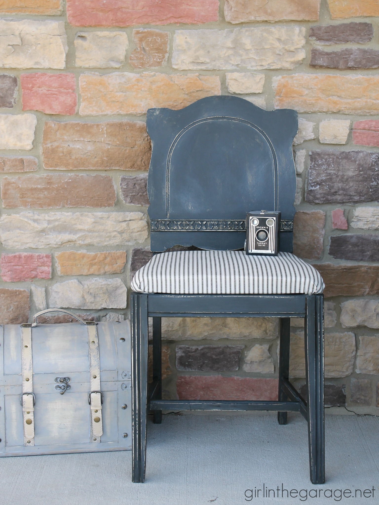 Farmhouse Style Chair Makeover - Girl in the Garage