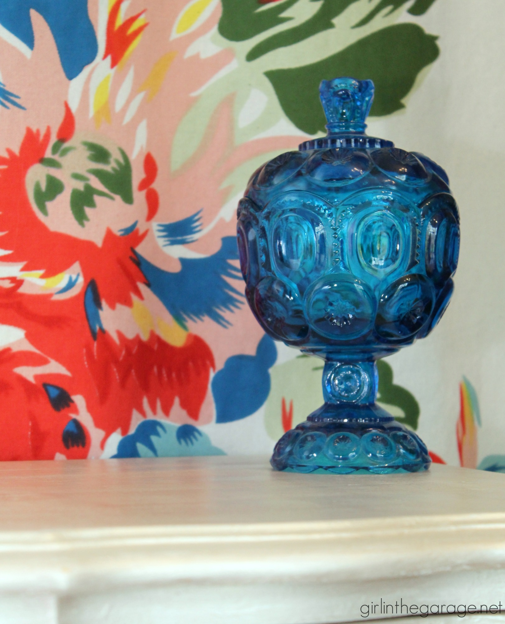 70s French Provincial nightstand makeover to metallic beauty - by Girl in the Garage