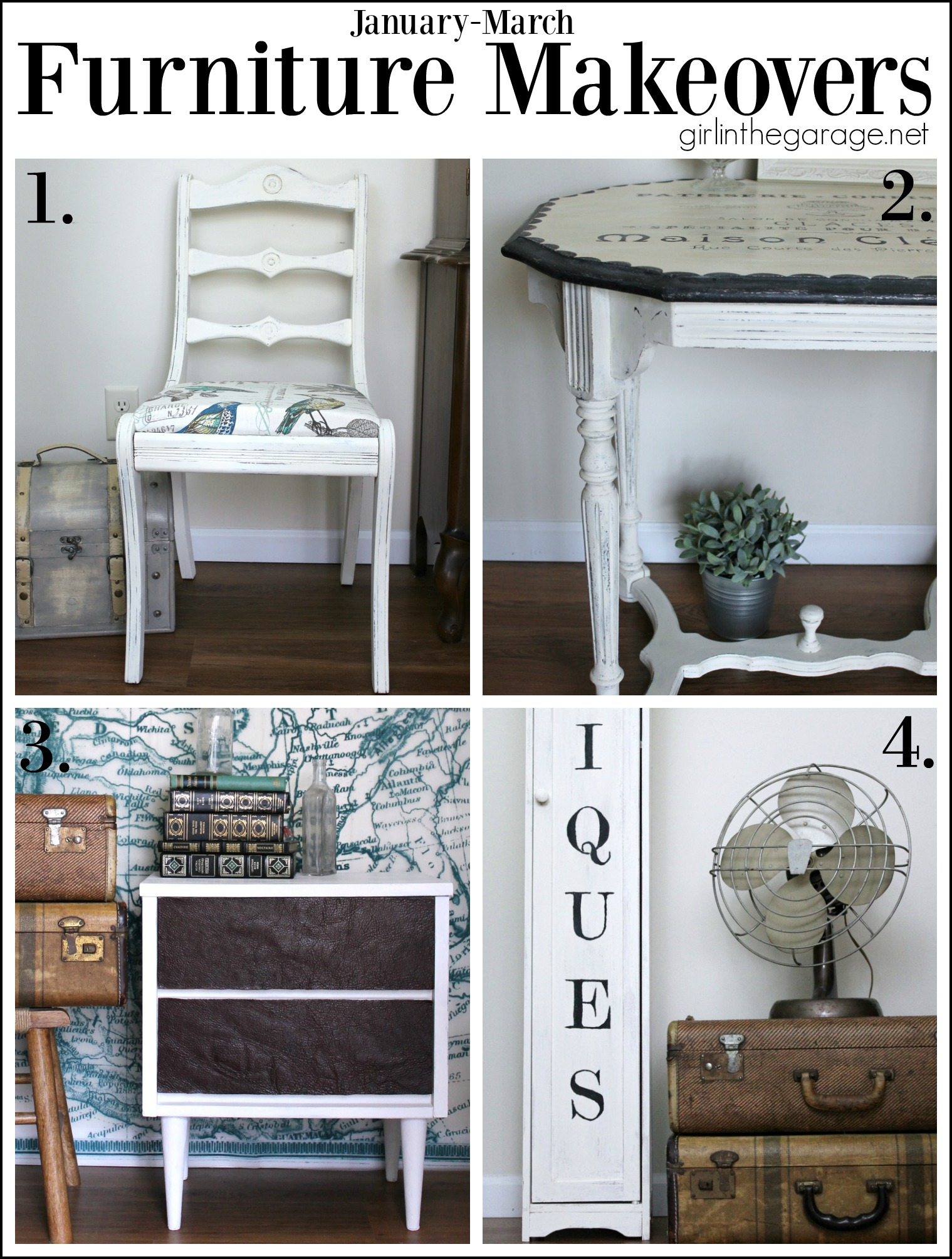 4 Furniture Makeovers - Girl in the Garage
