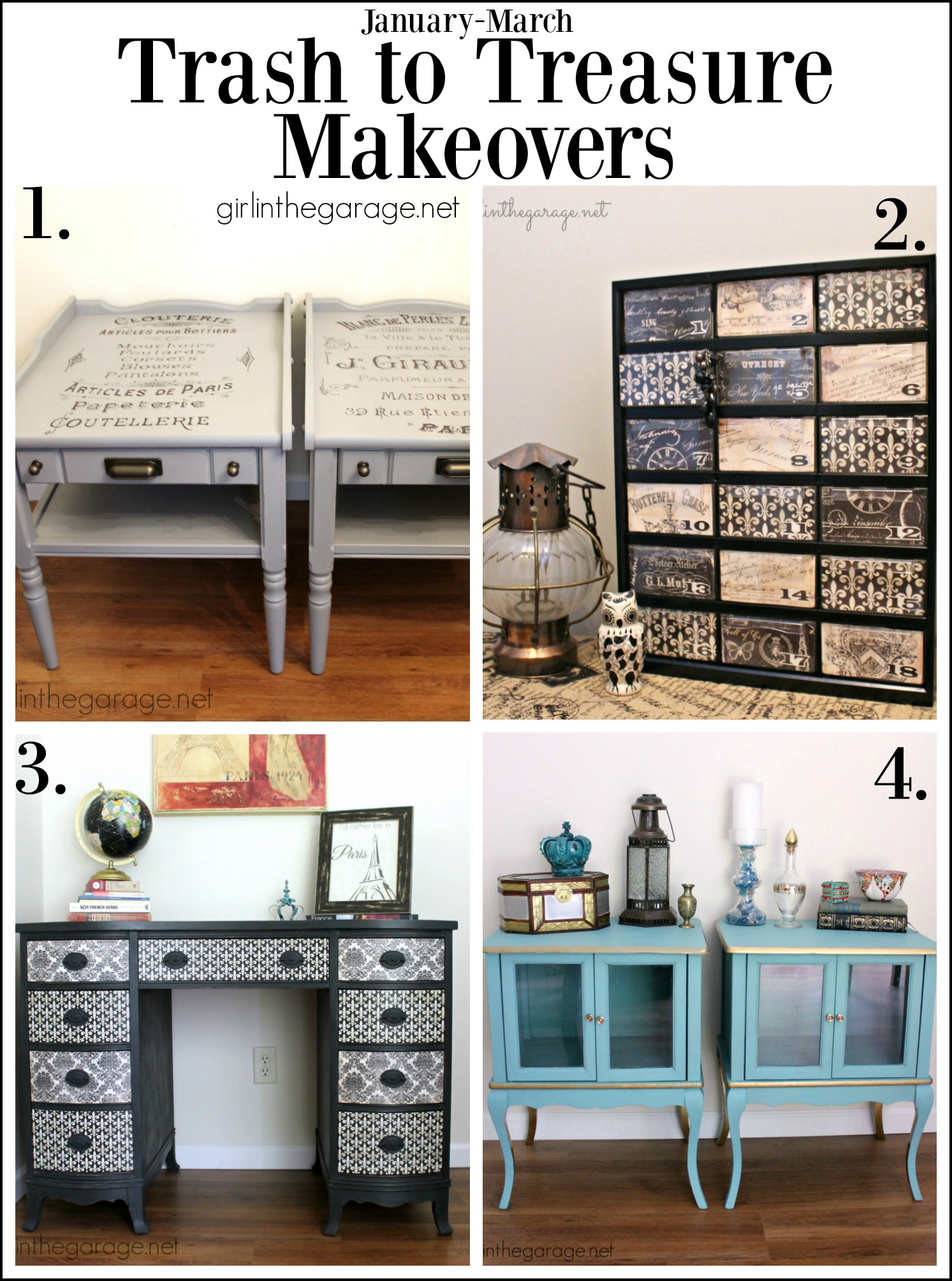 Trash to Treasure Furniture Makeovers - Girl in the Garage
