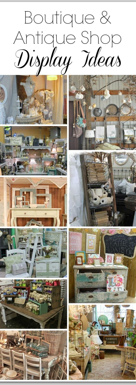 Doing your first vintage market or craft fair vendor for Retail shop display ideas