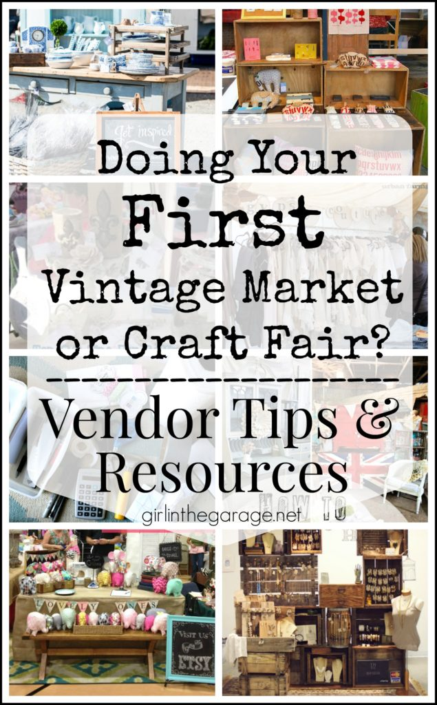 Doing your first vintage market or craft fair? Vendor tips and resources.
