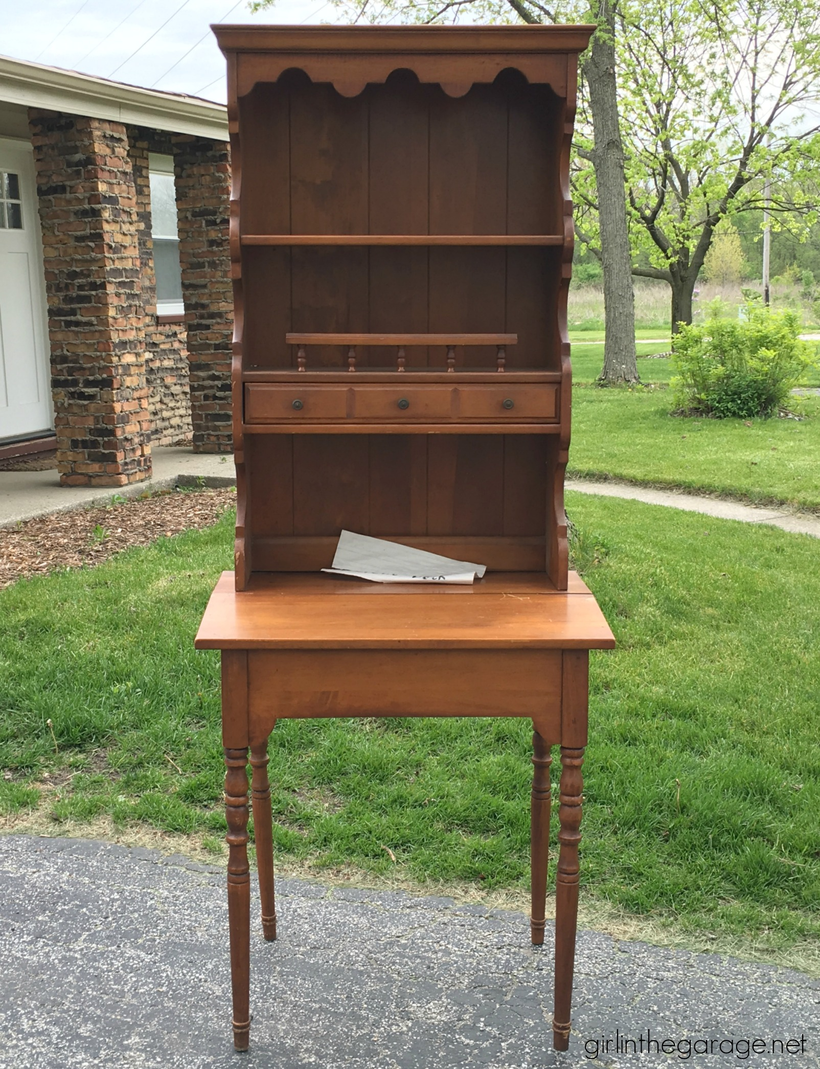 pullout with for sale rosewood surface danish vintage secretary desk