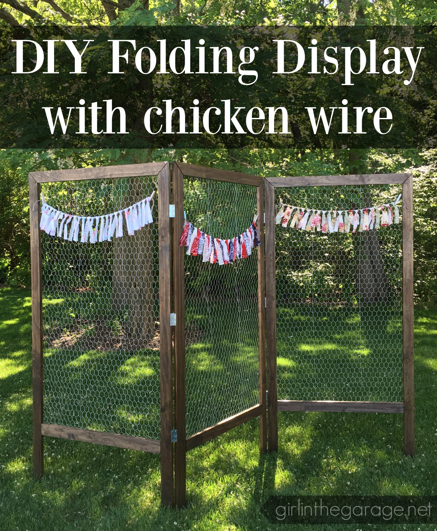 How to Build a DIY Folding Display with Chicken Wire - by Girl (and Guy) in the Garage