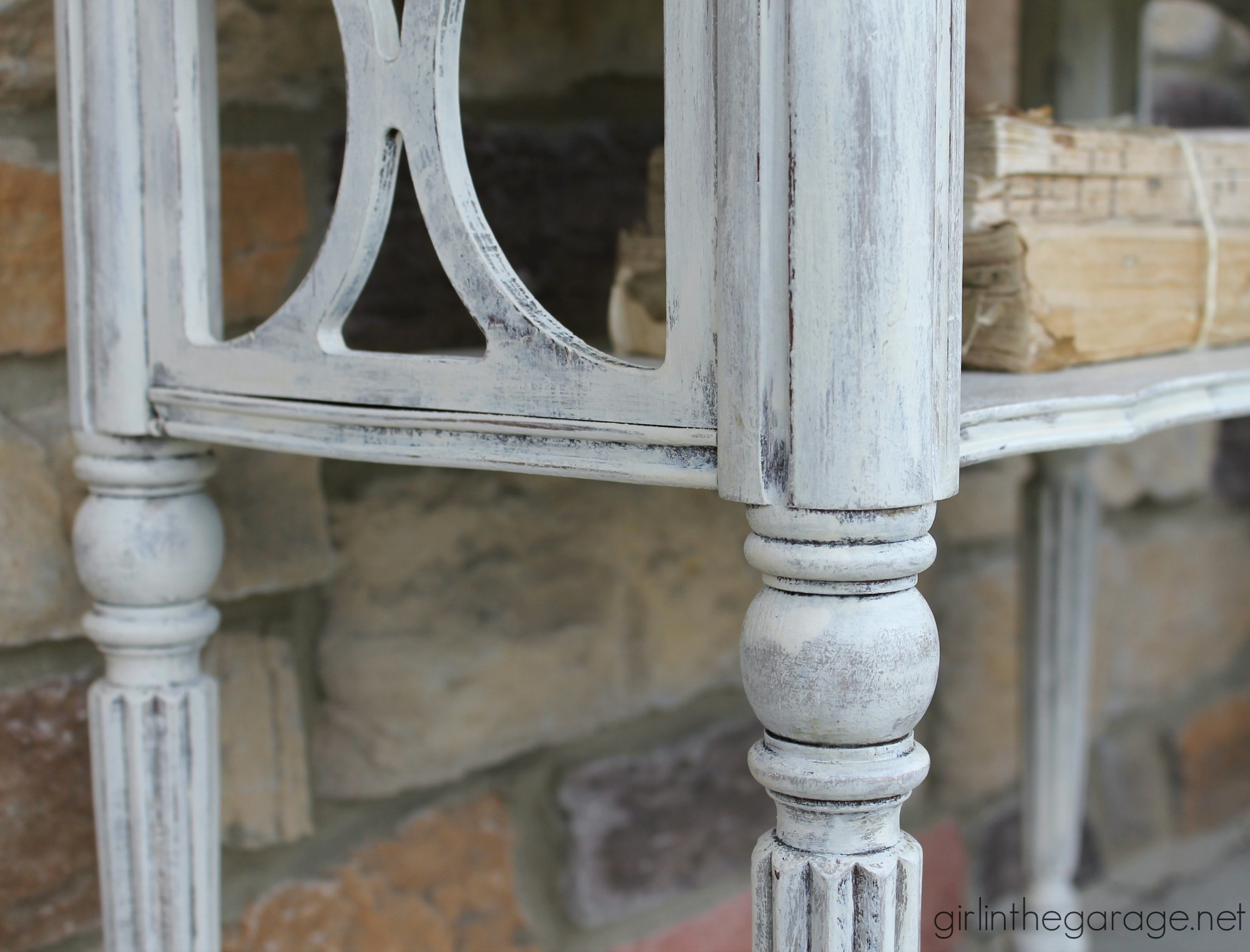 Vintage Table Makeover in Layers of Chalk Paint - Girl in the Garage