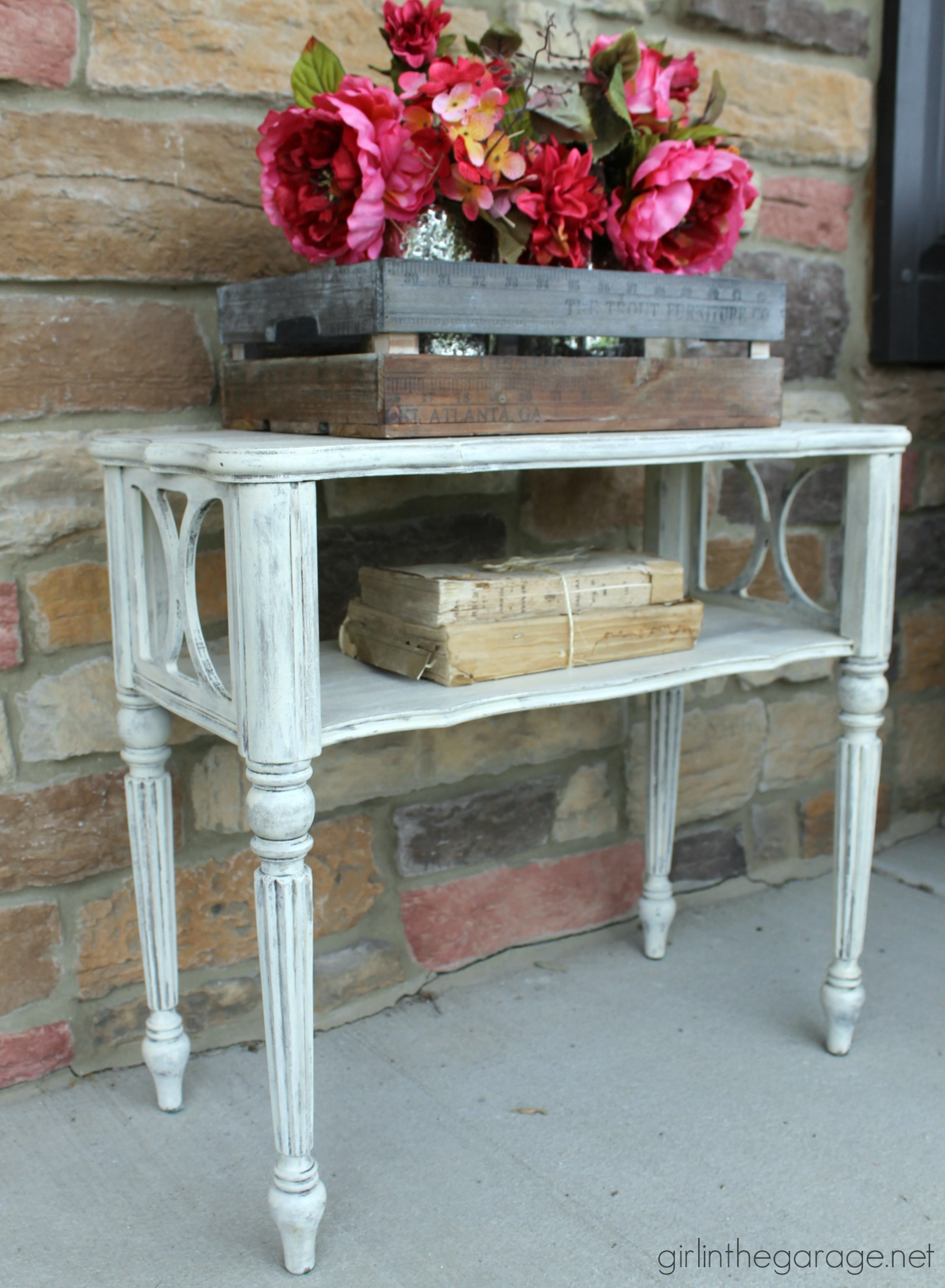 Vintage Table Makeover In Layers Of Chalk Paint   Girl In The Garage ...