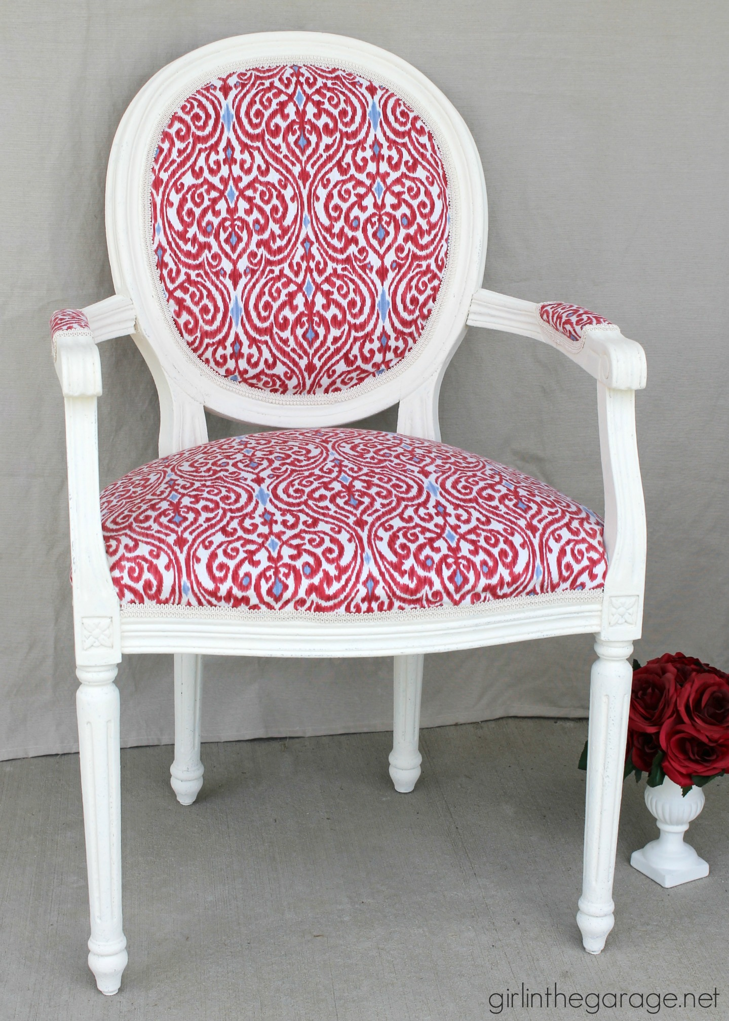 the anything but boring chair my first big reupholstery redo