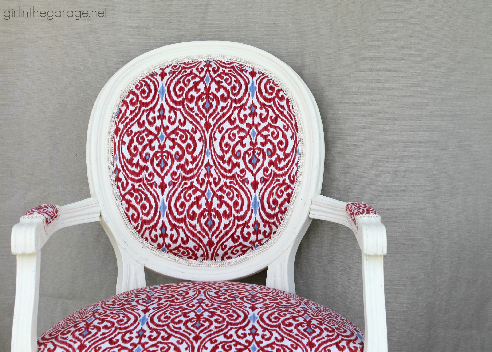 DIY Reupholstered Chair - Girl in the Garage