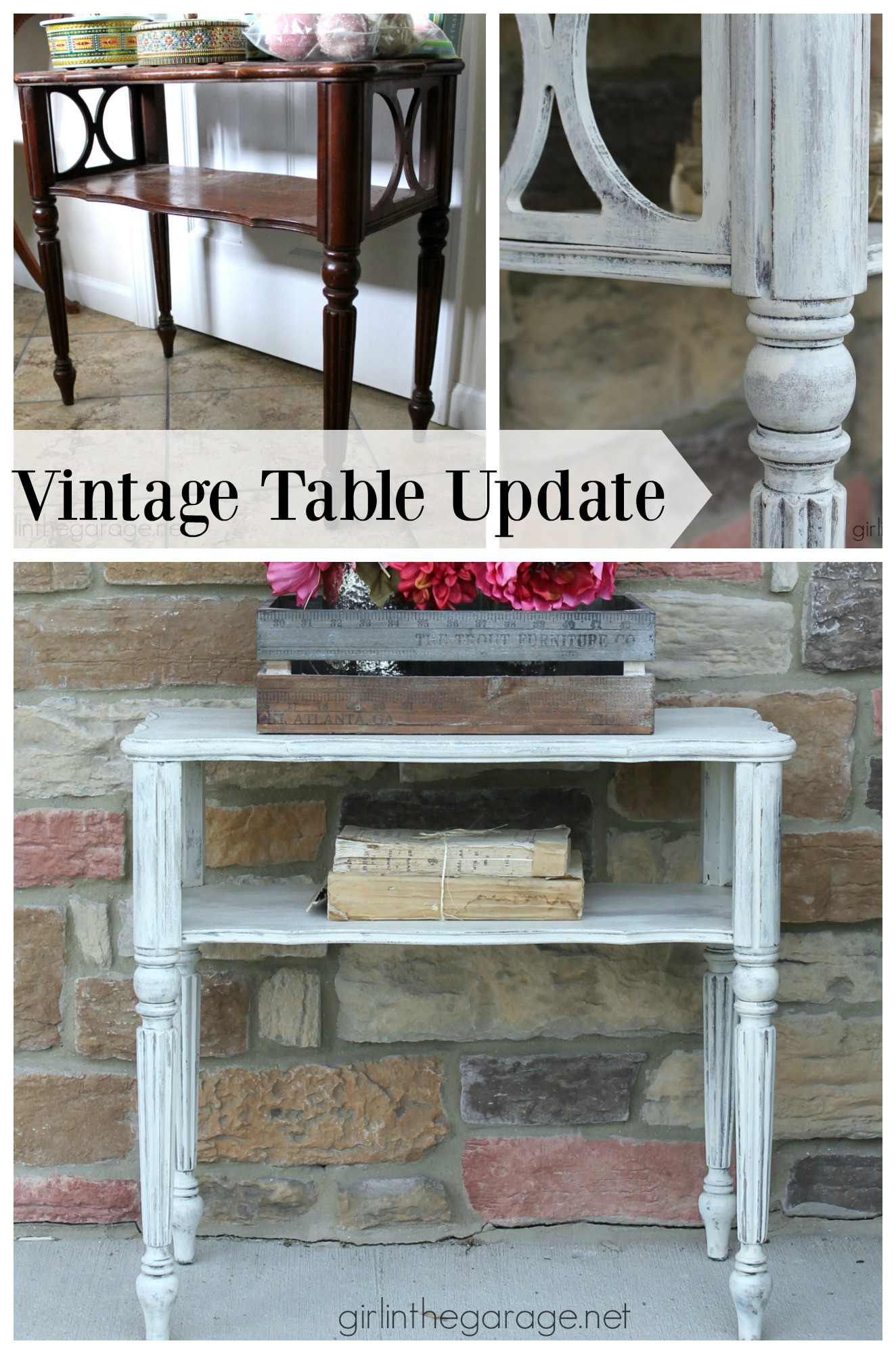 Table Makeover in Layered Chalk Paint