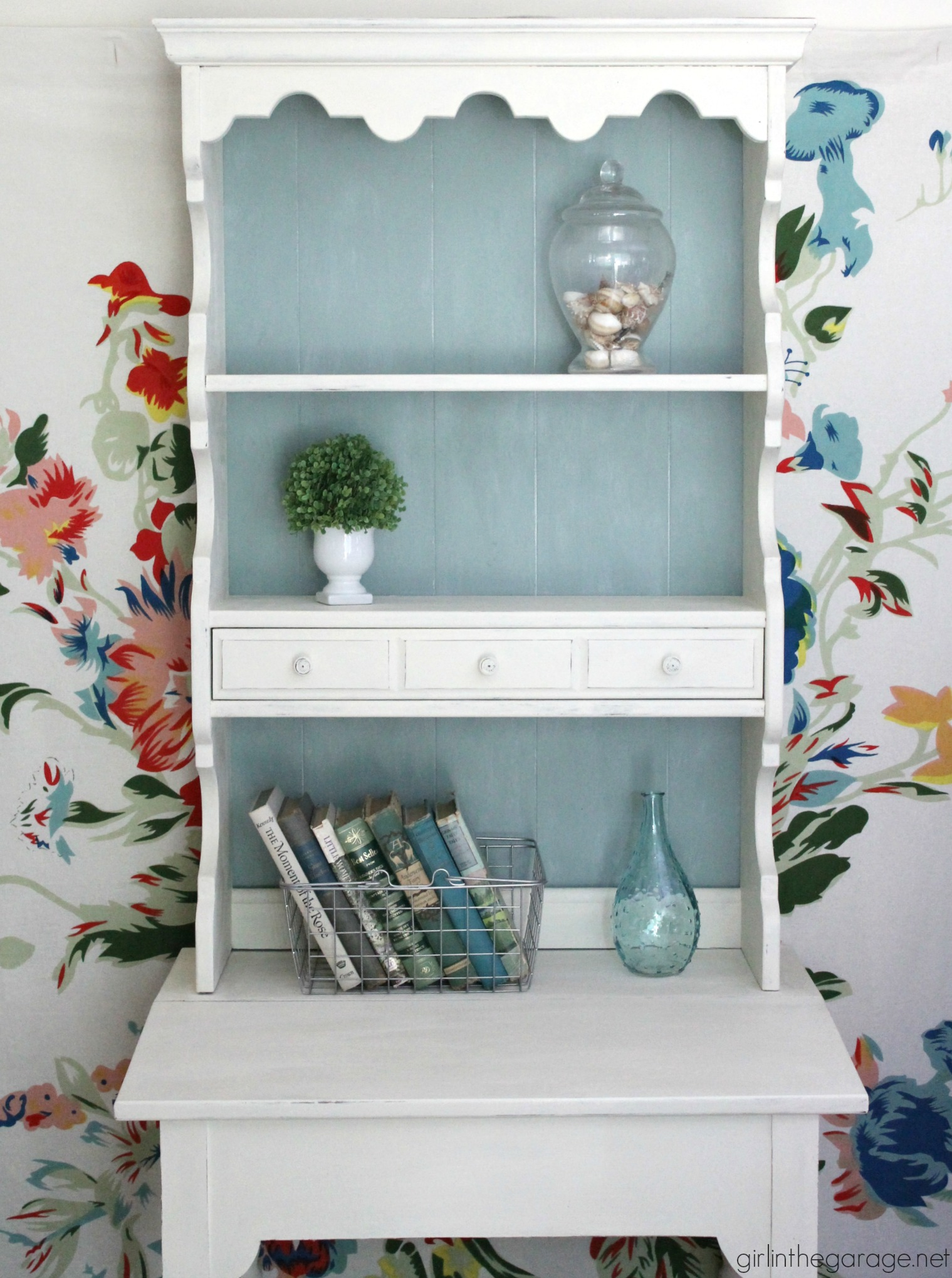 Vintage secretary makeover + Annie Sloan's new white wax! by Girl in the Garage