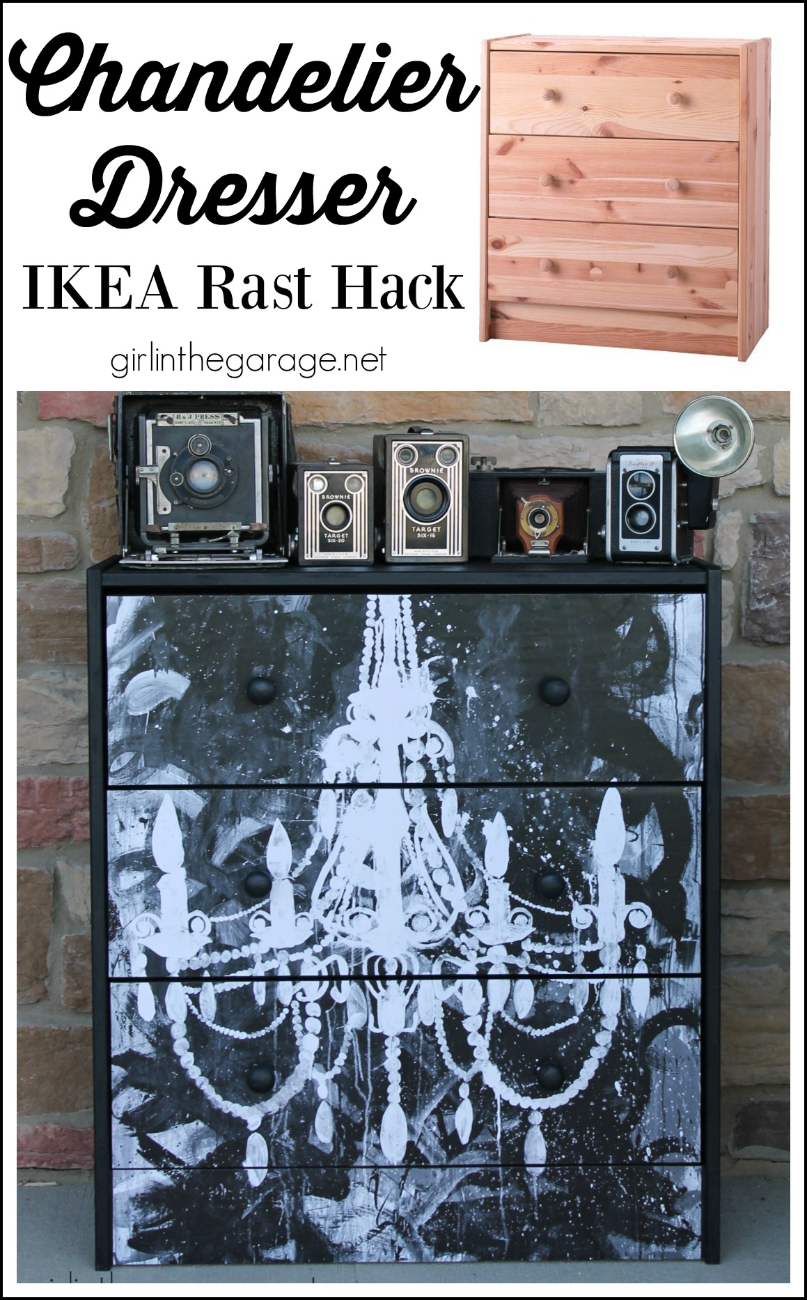 Chandelier Dresser - IKEA Rast Hack by Girl in the Garage