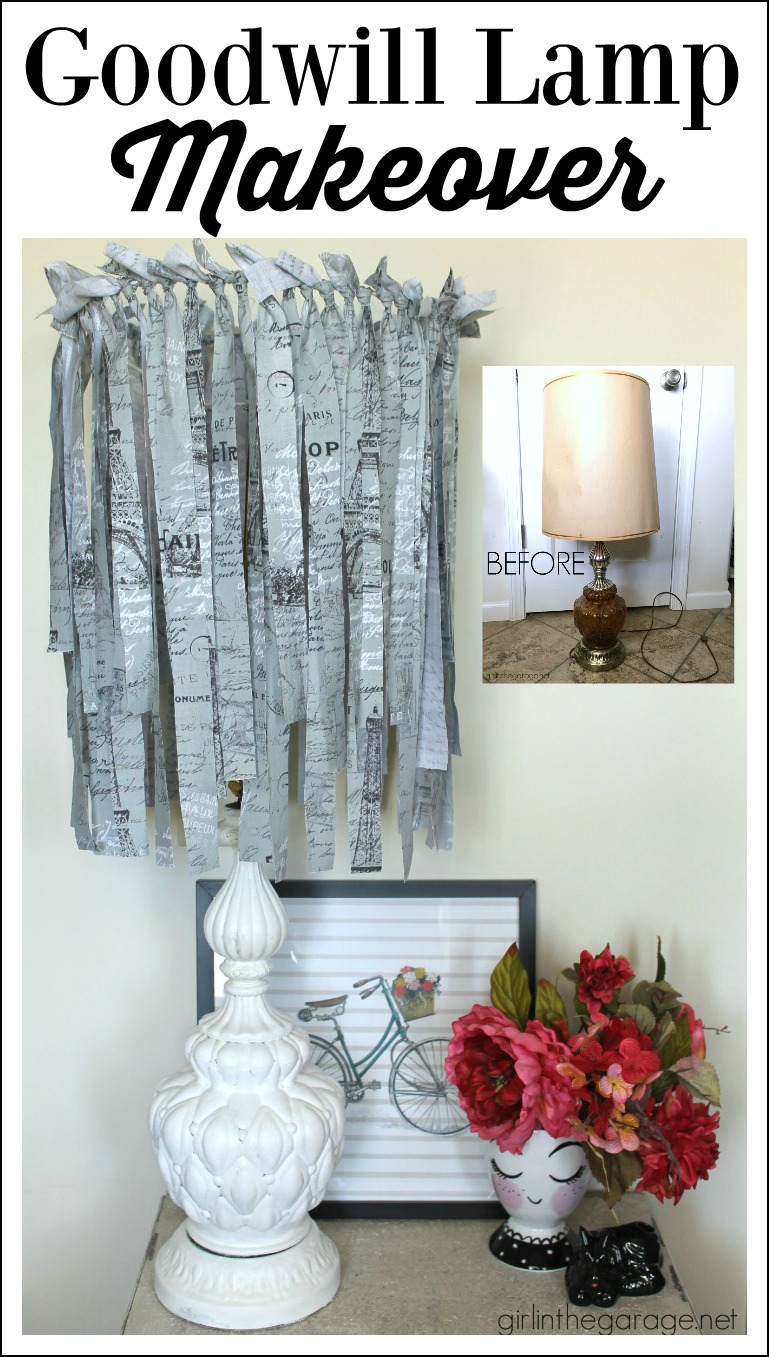 How to give a Goodwill lamp a chic French makeover - by Girl in the Garage