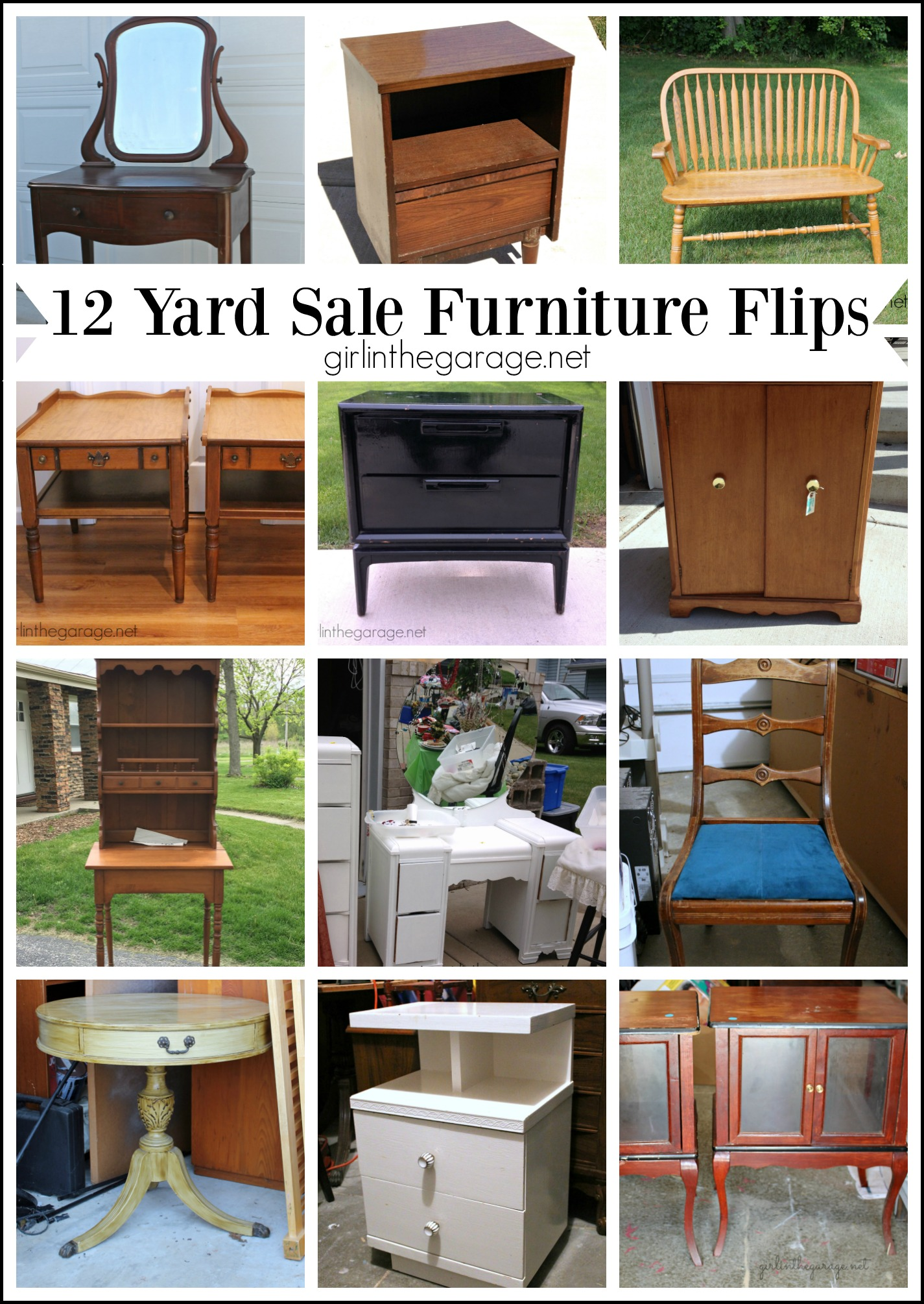 Furniture Yard Sale Of 12 Clever Trash To Treasure Makeovers Girl In The Garage