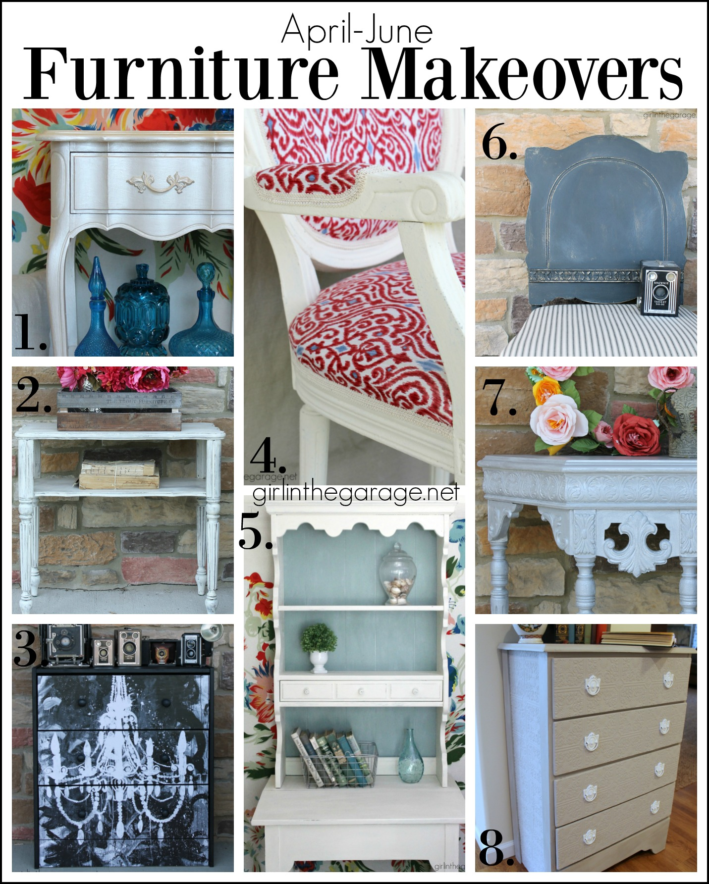 Furniture makeover tutorials - Girl in the Garage