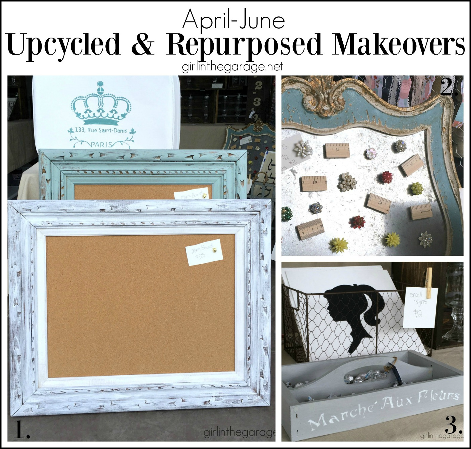 Upcycled and repurposed makeovers - Girl in the Garage