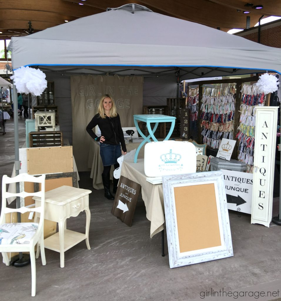 Vintage market and craft fair booth display ideas - Girl in the Garage