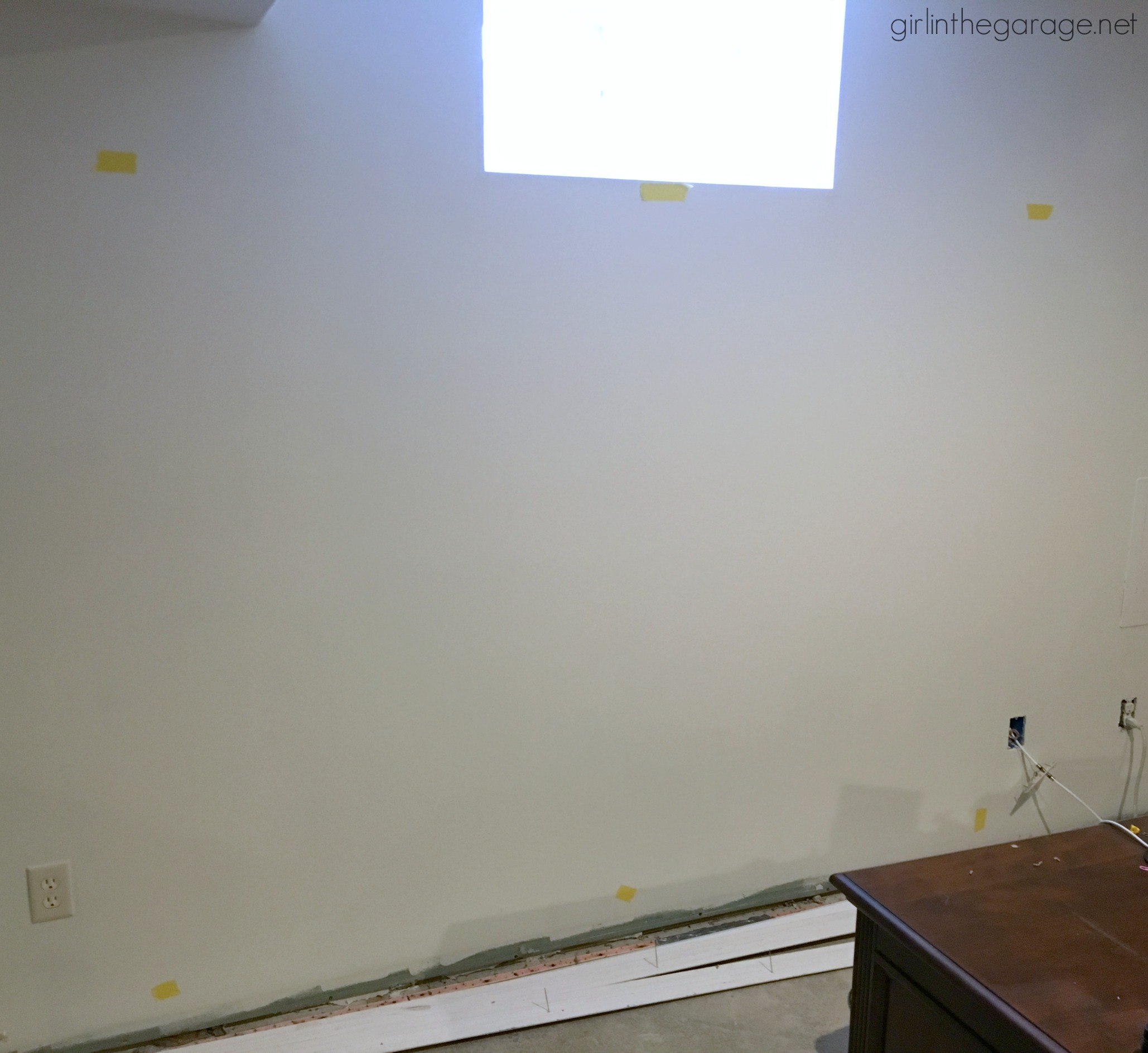 How to make a statement wall with removable wallpaper - Girl in the Garage