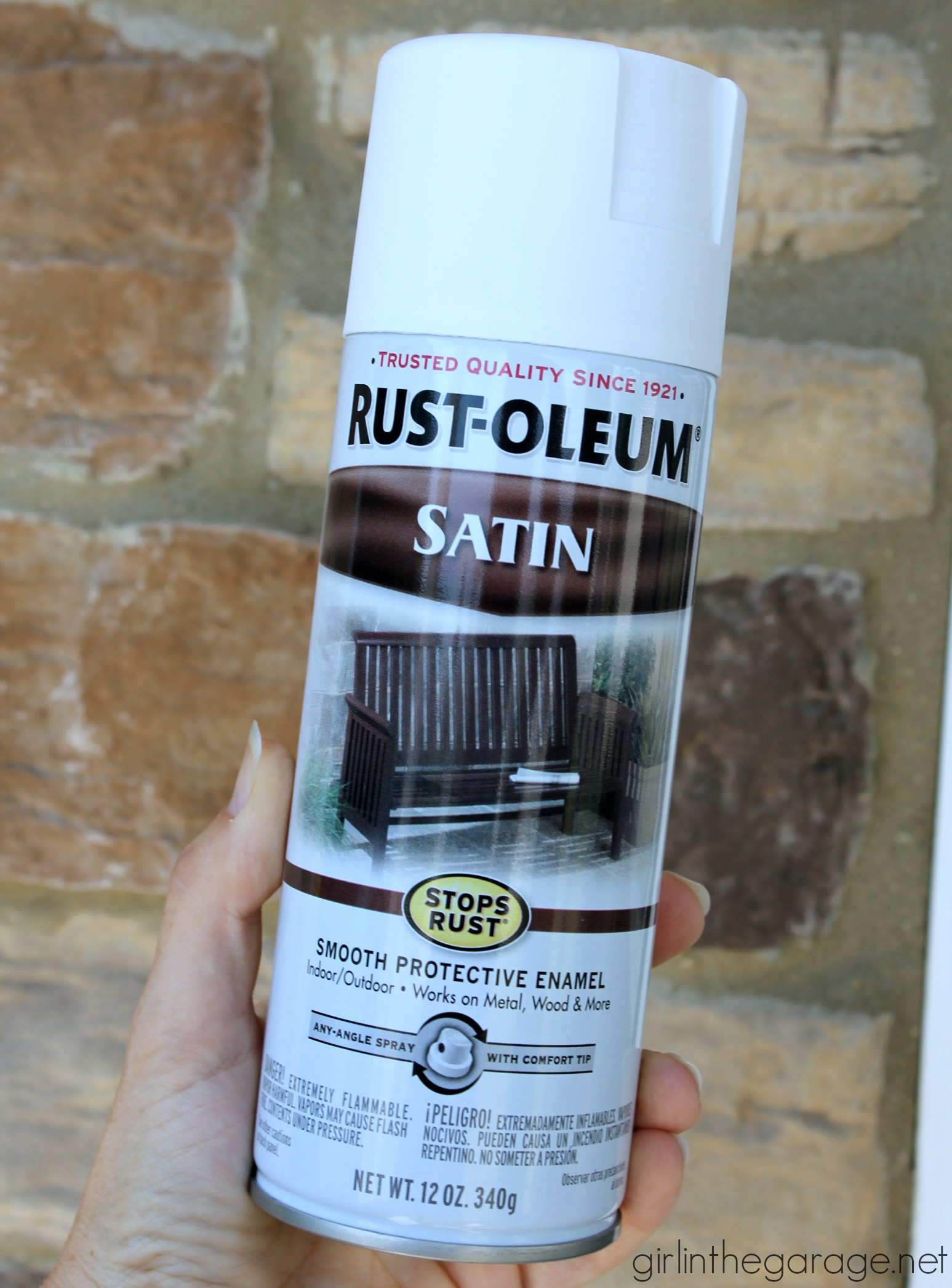 Rustoleum white satin spray paint