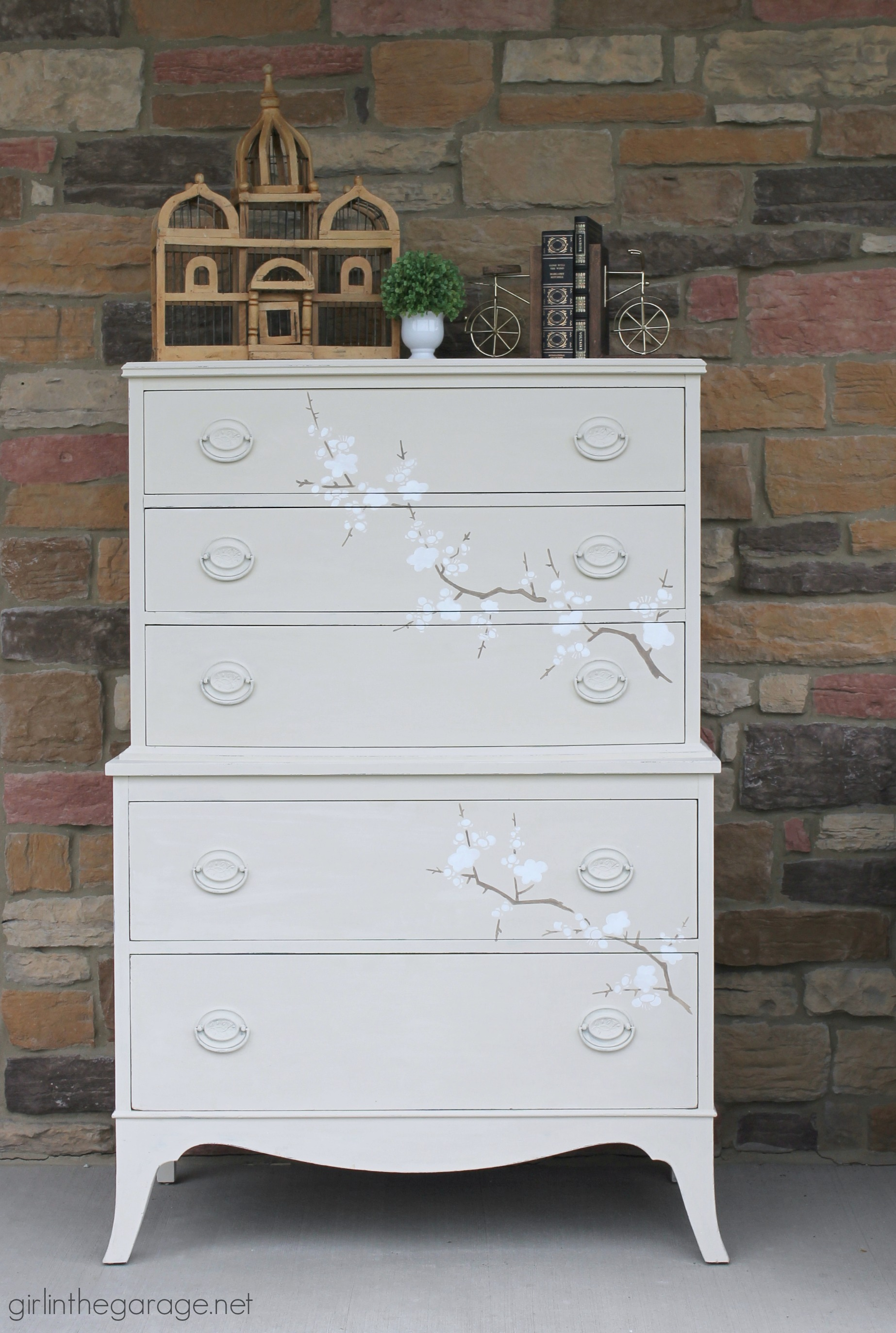 Cherry Blossom Dresser Makeover - Girl in the Garage