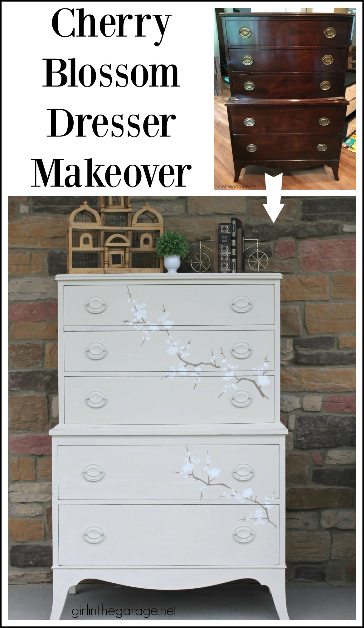 Learn how to stencil furniture and decor with Chalk Paint for gorgeous results. Painted furniture ideas by Girl in the Garage