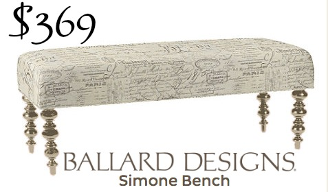 Ballard Designs Simone bench