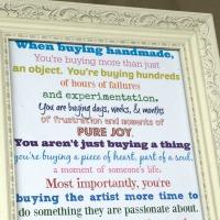 Handmade/Small Business Free Printable Sign
