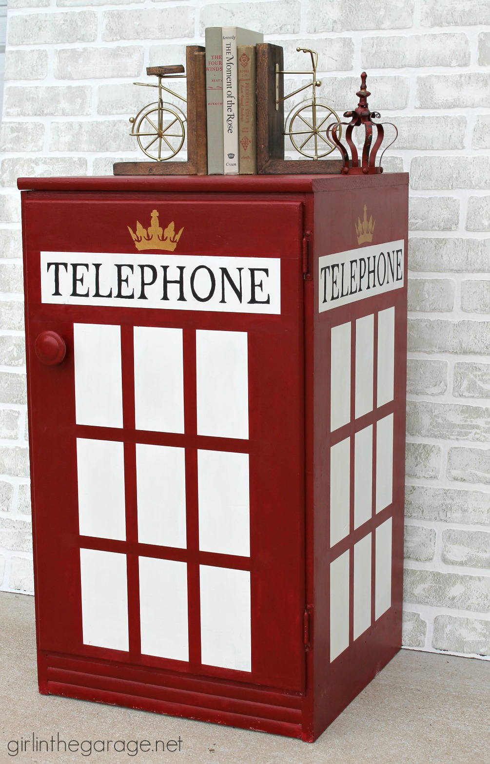 DIY London Telephone Booth Cabinet - Girl in the Garage