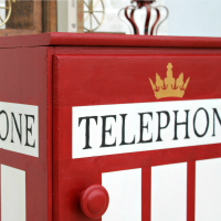London Phone Booth Cabinet Makeover