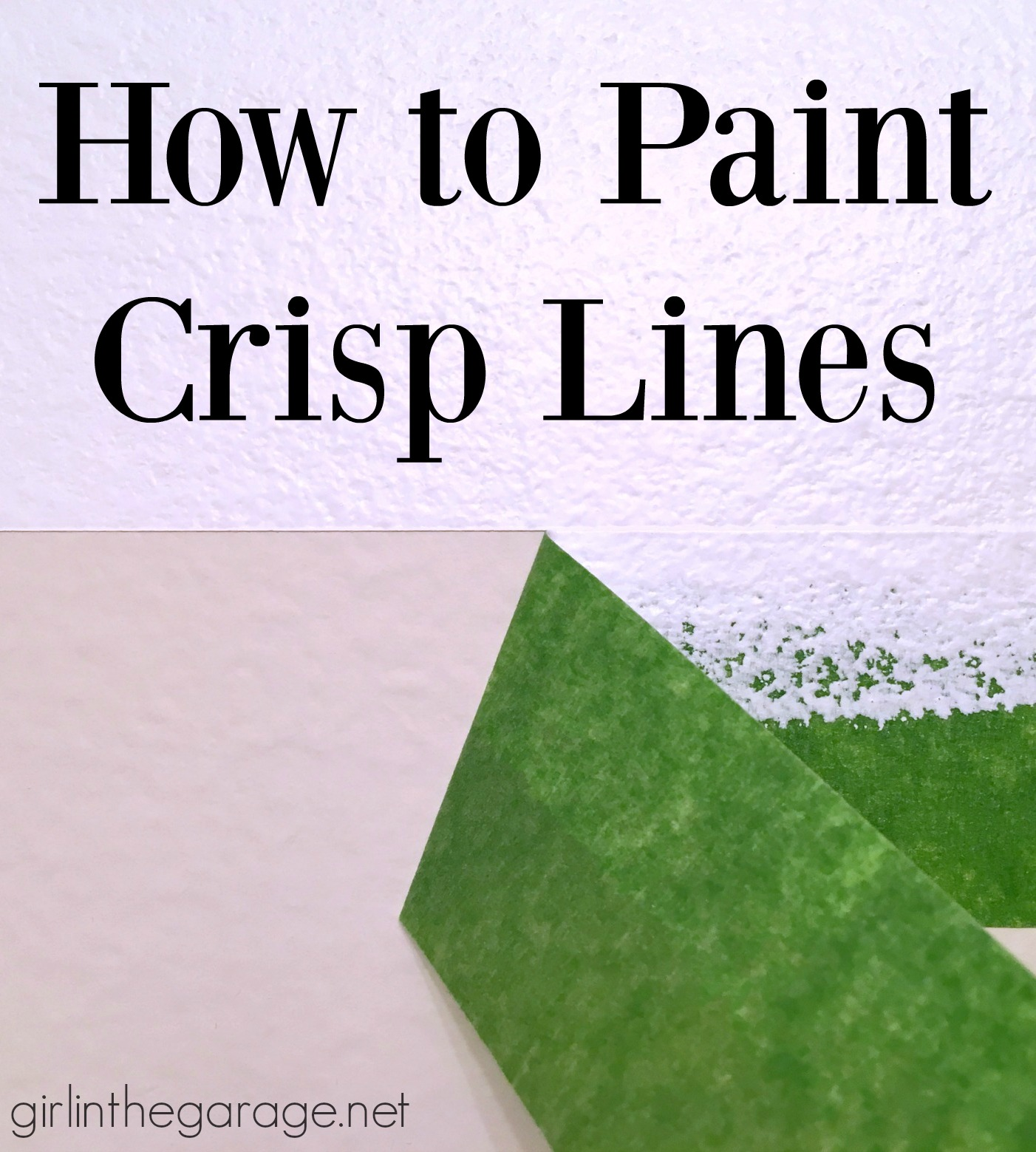 How to paint crisp lines - Boys' bathroom makeover by Girl in the Garage