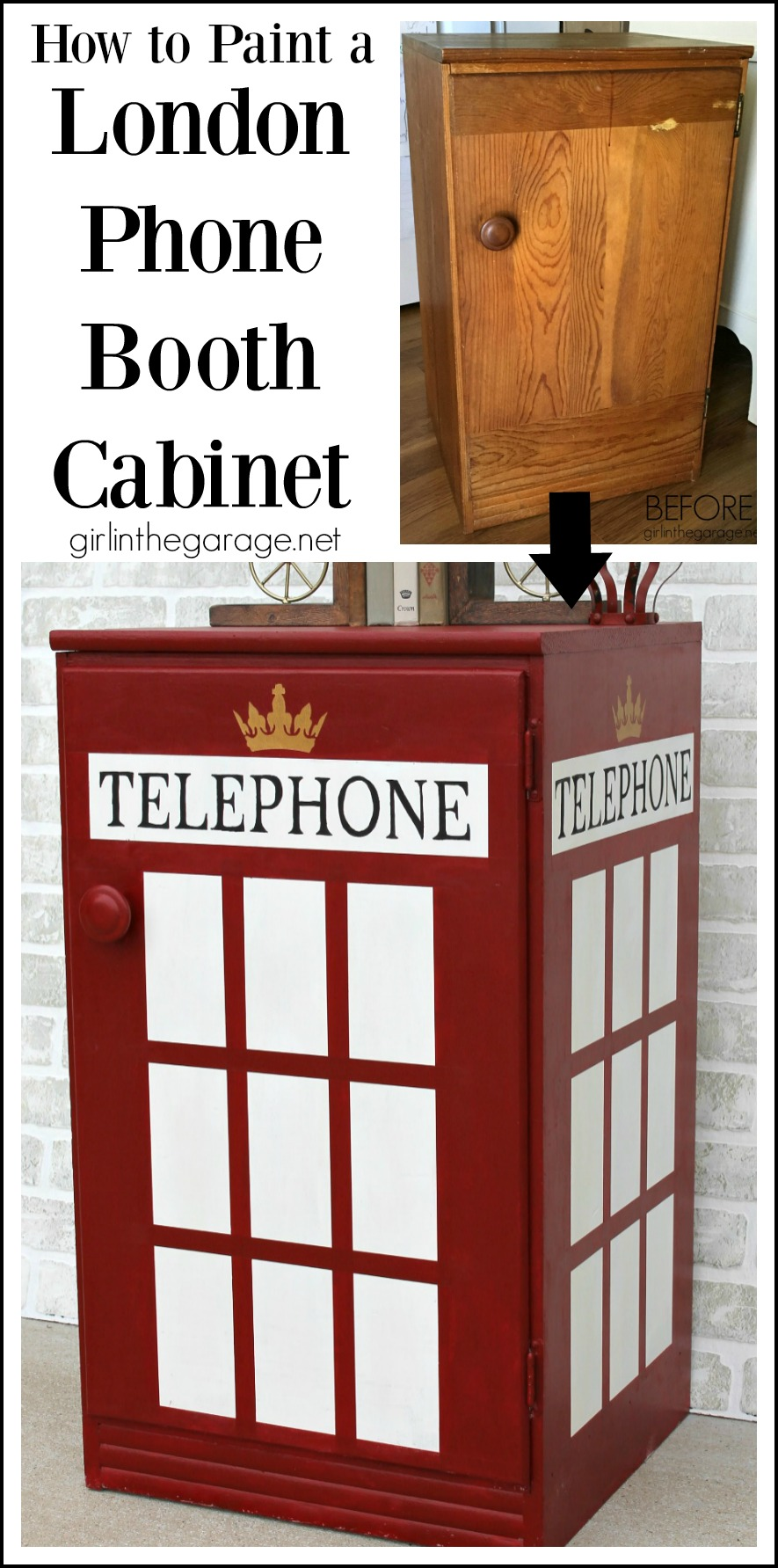 Surprising How To Paint London Phone Booth Cabinet Girl In The Garage Download Free Architecture Designs Scobabritishbridgeorg