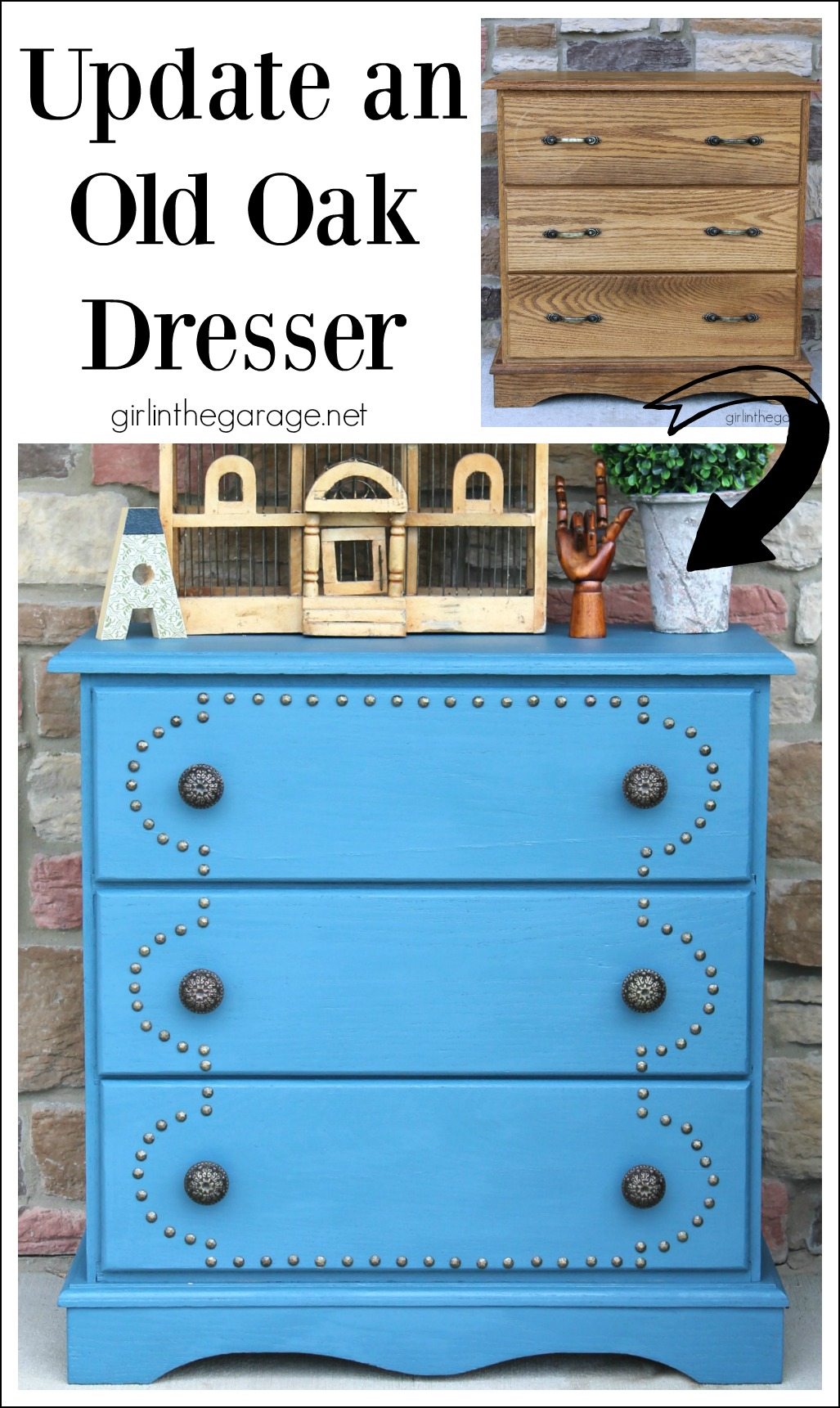 How to Update an Old Oak Dresser - girlinthegarage.net