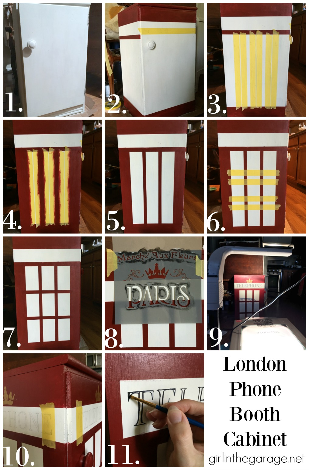 How To Paint A London Phone Booth On Furniture   Girl In The Garage