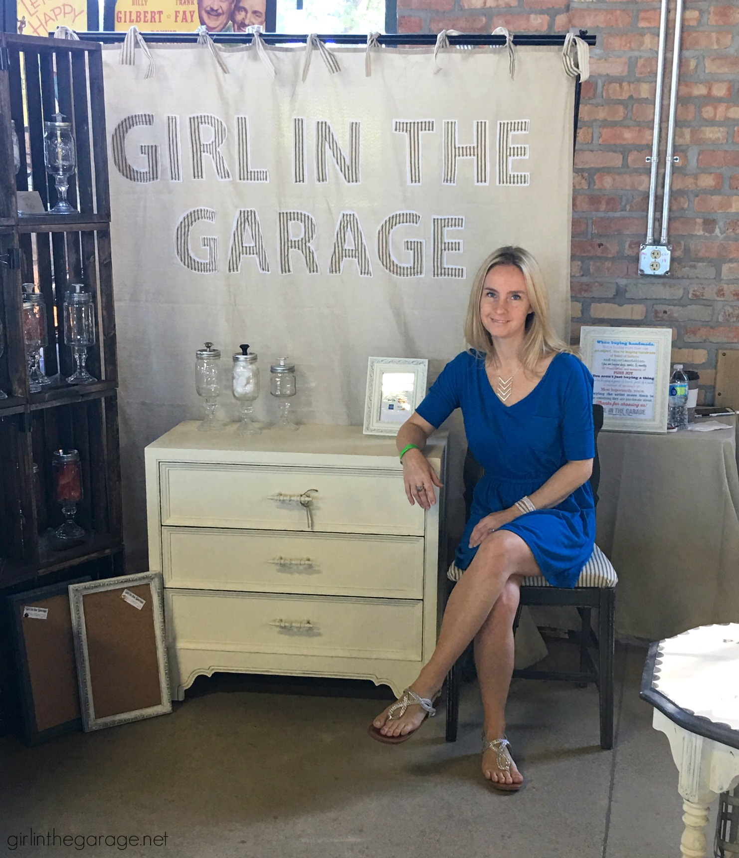 Hunt and Gather Vintage Market - Details and Lessons Learned. Girl in the Garage
