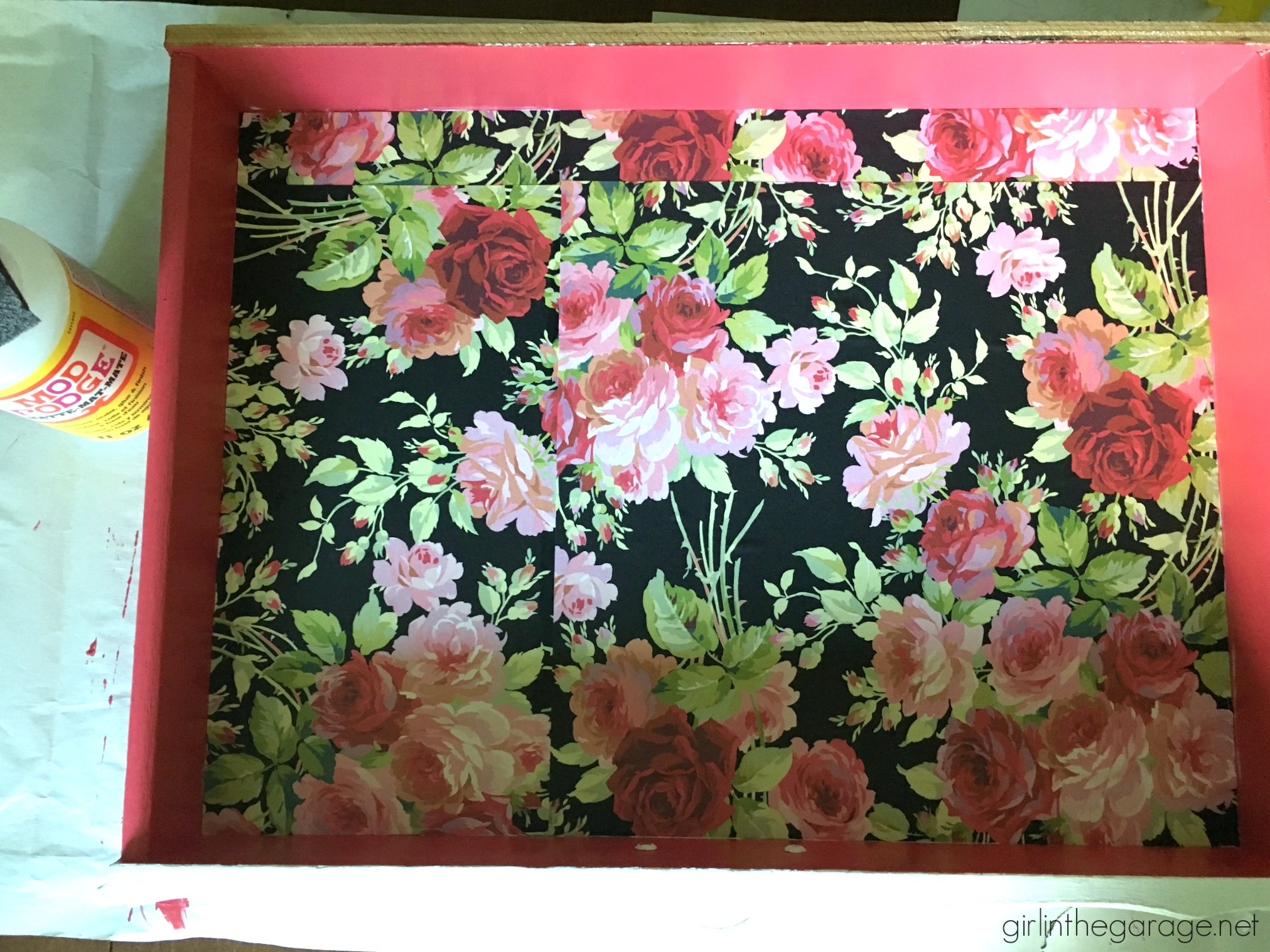 French Provincial Desk Makeover with Decoupage Drawers - Girl in the Garage