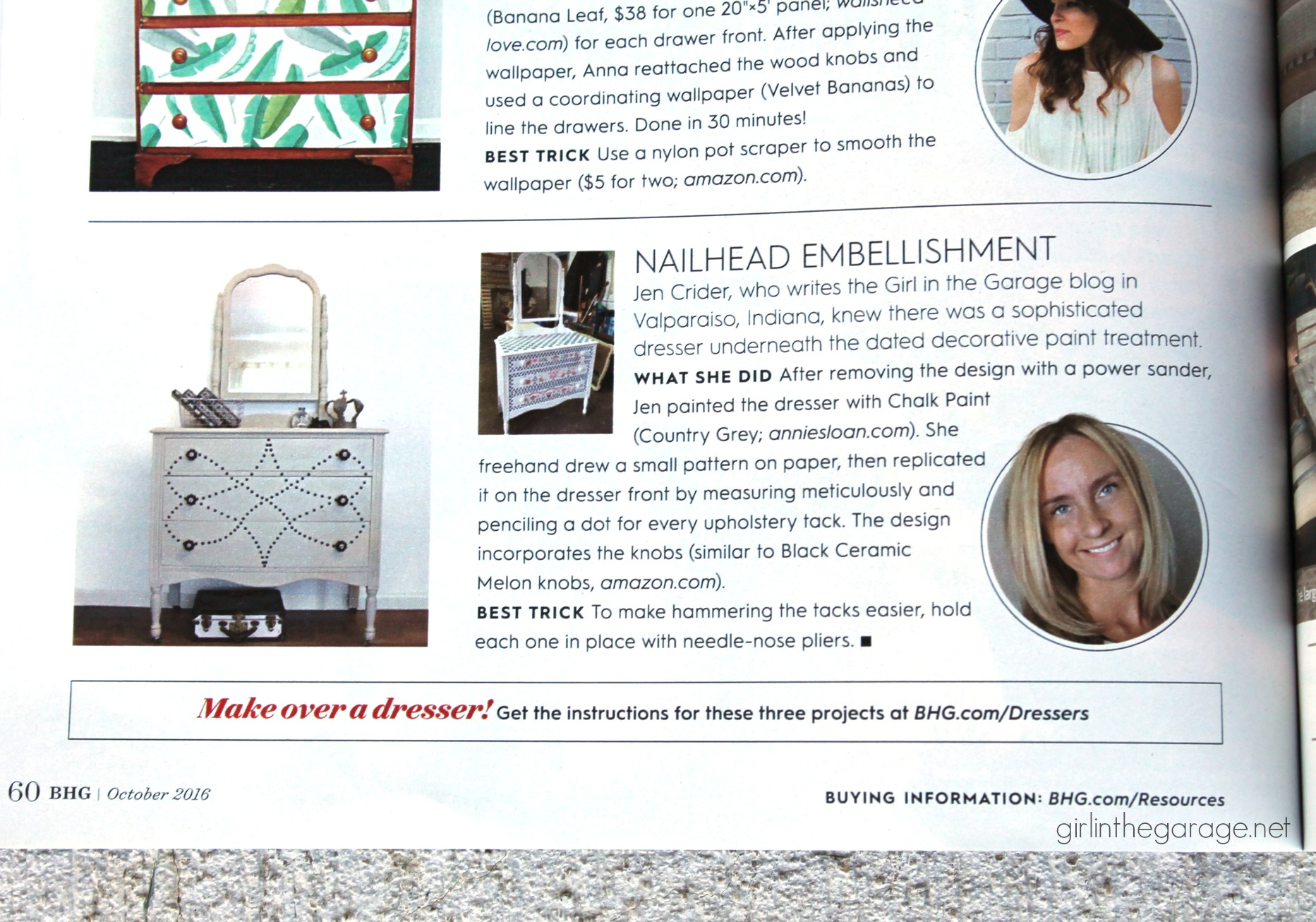 Nailhead Dresser Makeover by Girl in the Garage - Featured in BHG Magazine