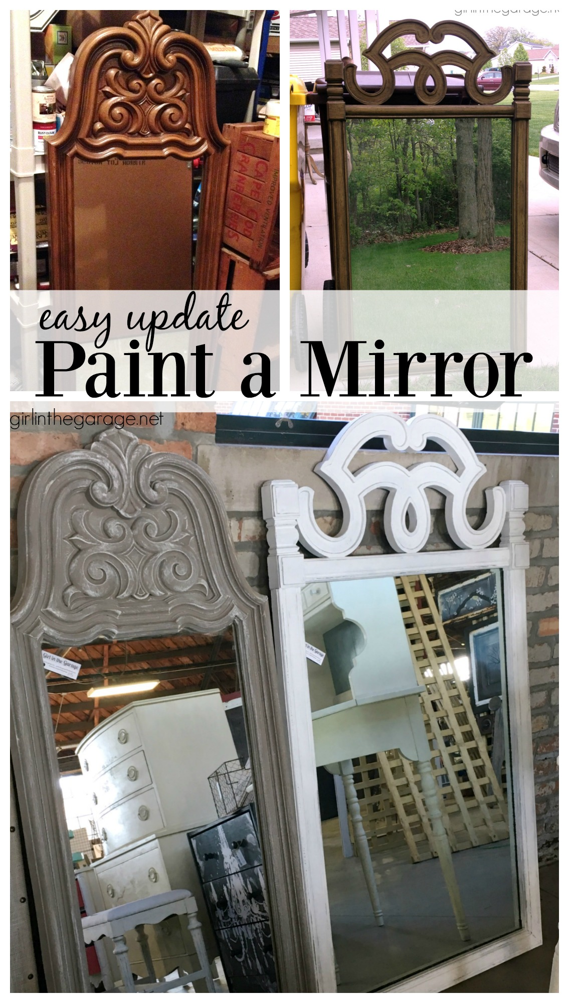 How to Paint a Mirror: An easy, budget-friendly update. Girl in the Garage